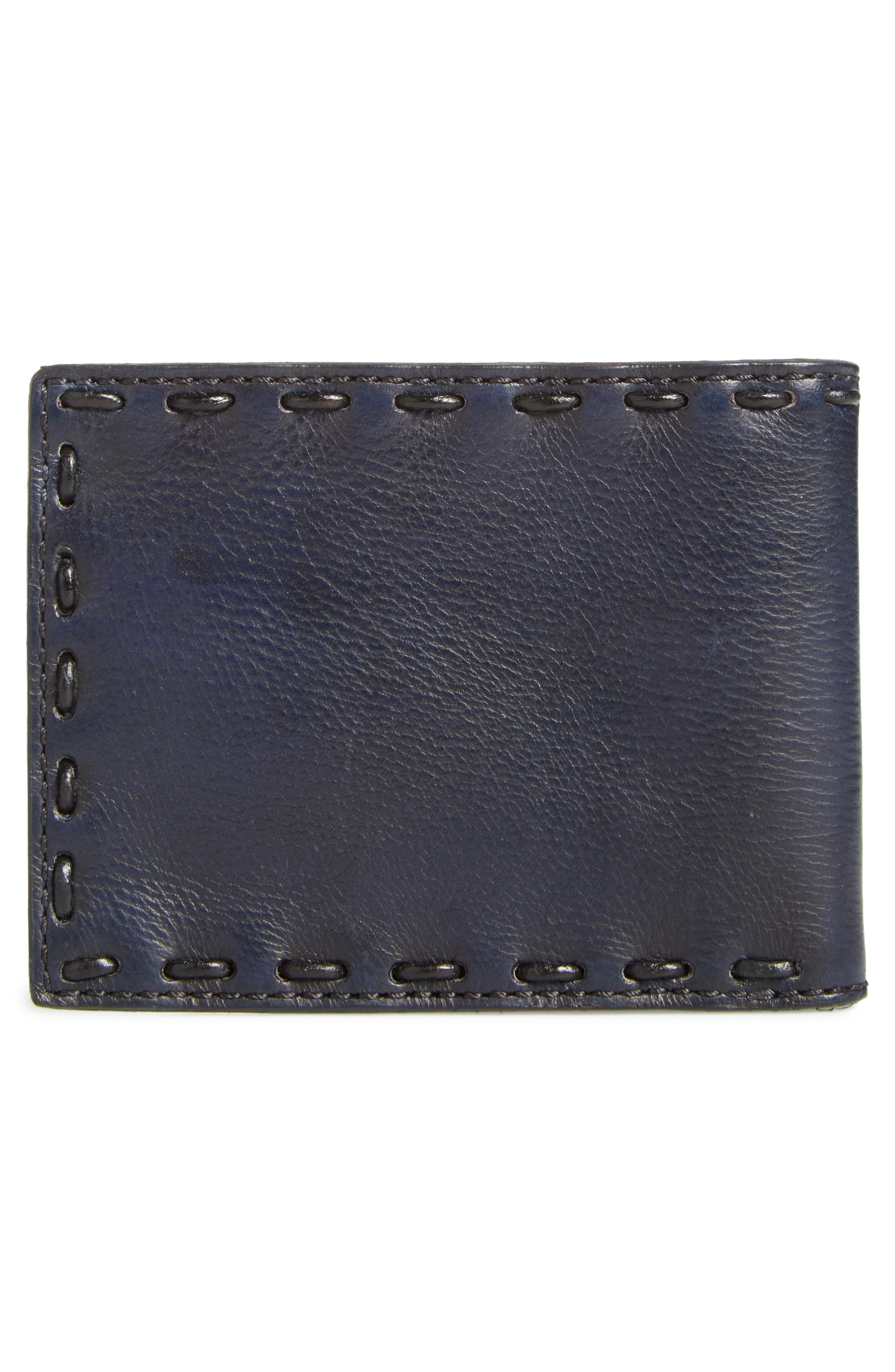 Pickstitch Leather Bifold Wallet,                             Alternate thumbnail 5, color,