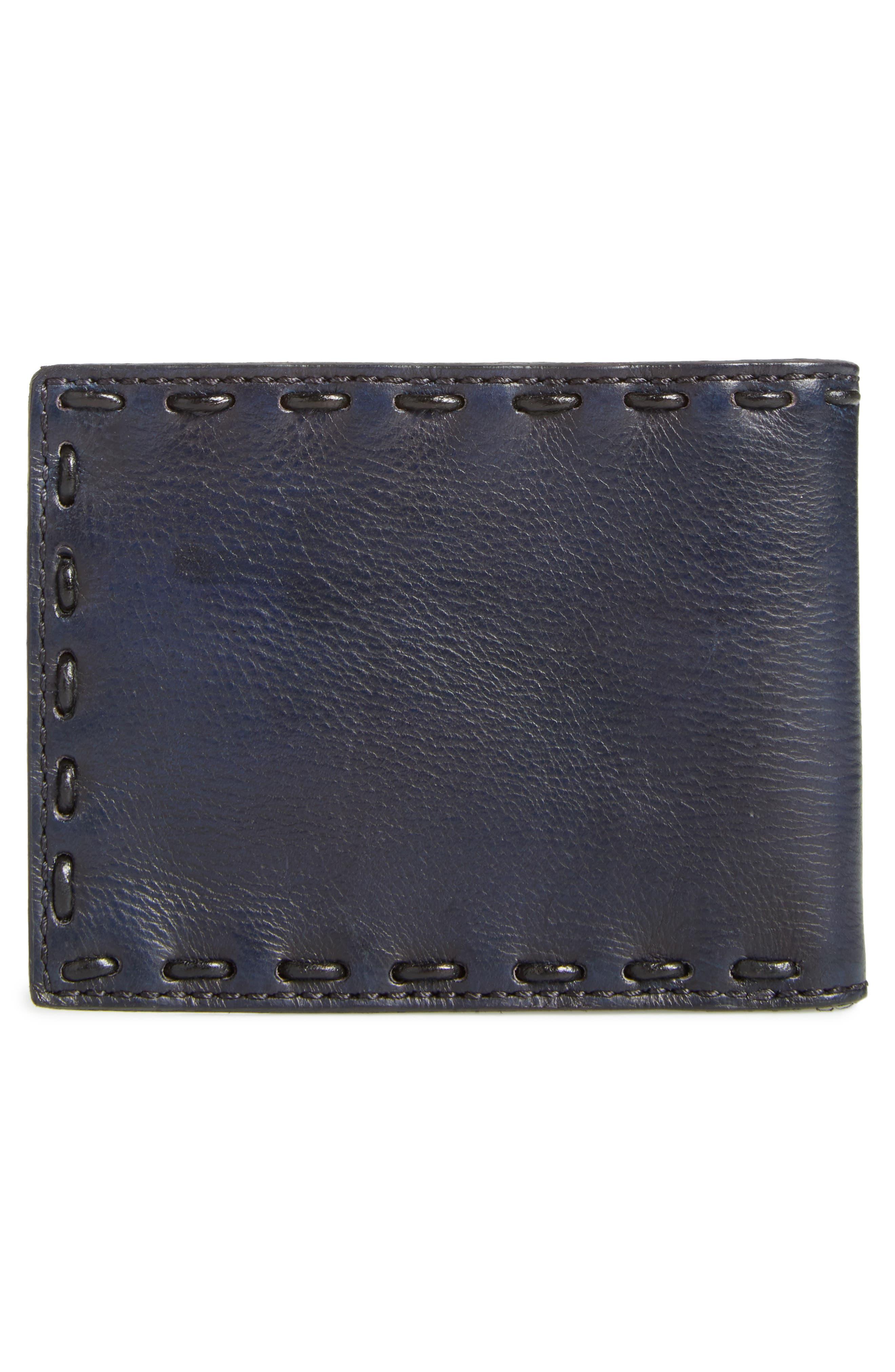 Pickstitch Leather Bifold Wallet,                             Alternate thumbnail 3, color,                             094