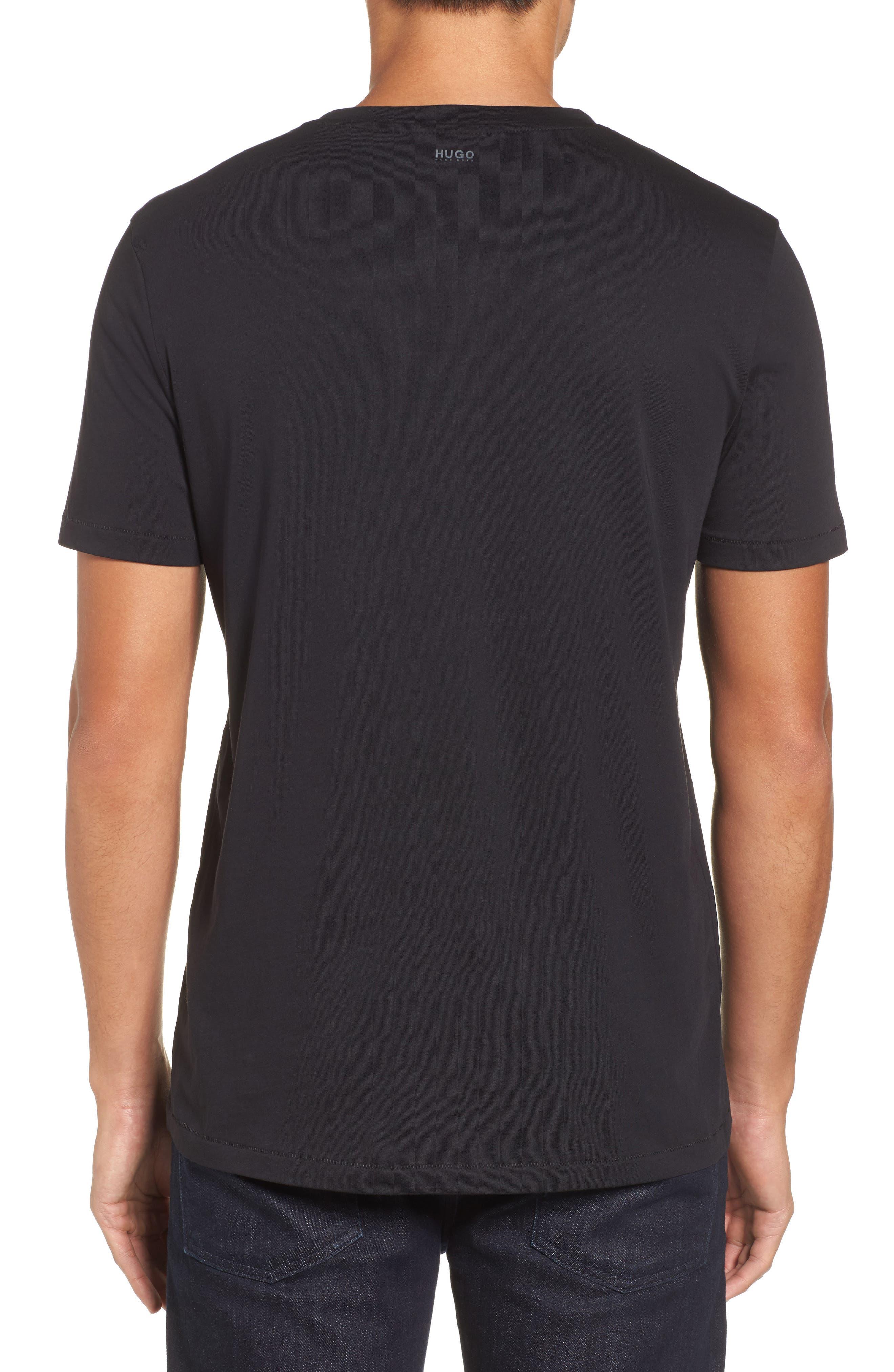 Hugo Boss Drison Hashmark Graphic T-Shirt,                             Alternate thumbnail 2, color,                             001