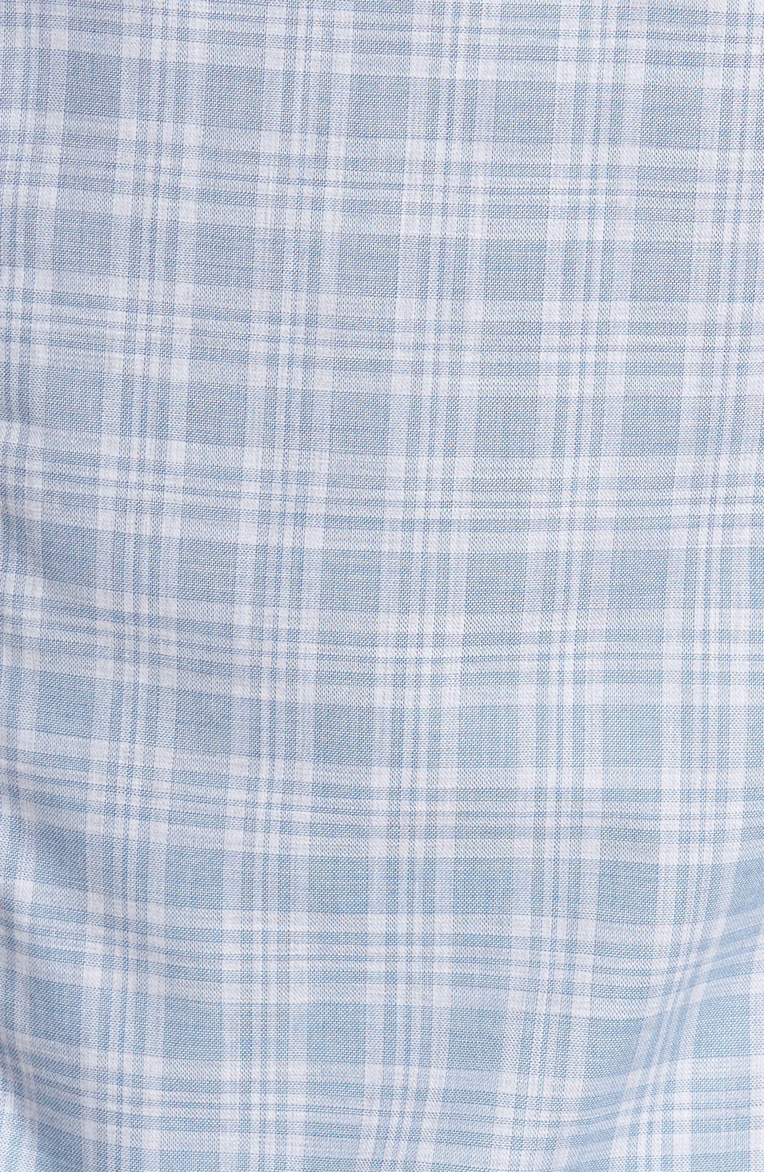Trim Fit Check Sport Shirt,                             Alternate thumbnail 5, color,                             400