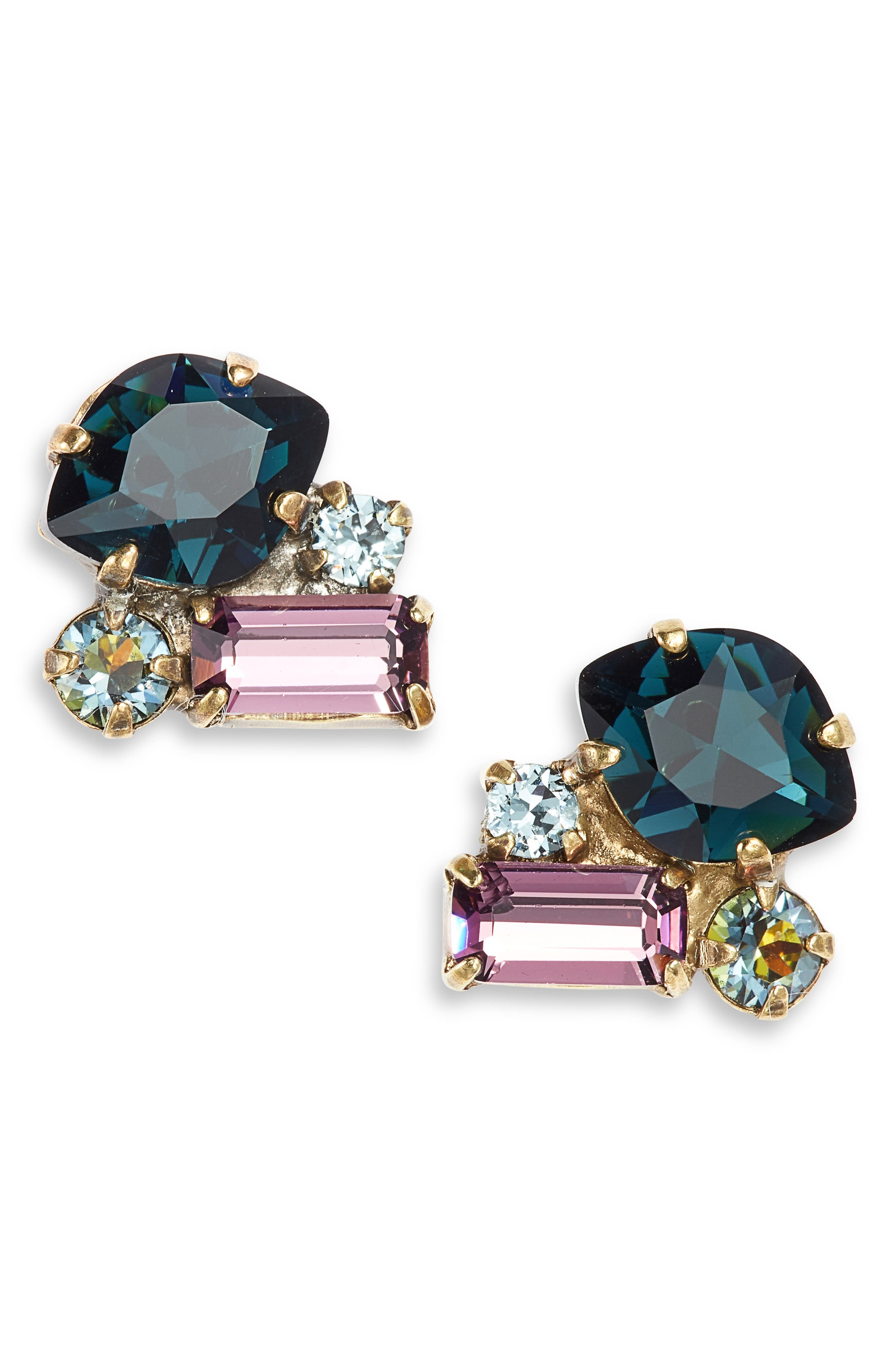 SORRELLI Crystal Coterie Stud Earrings in Blue Multi