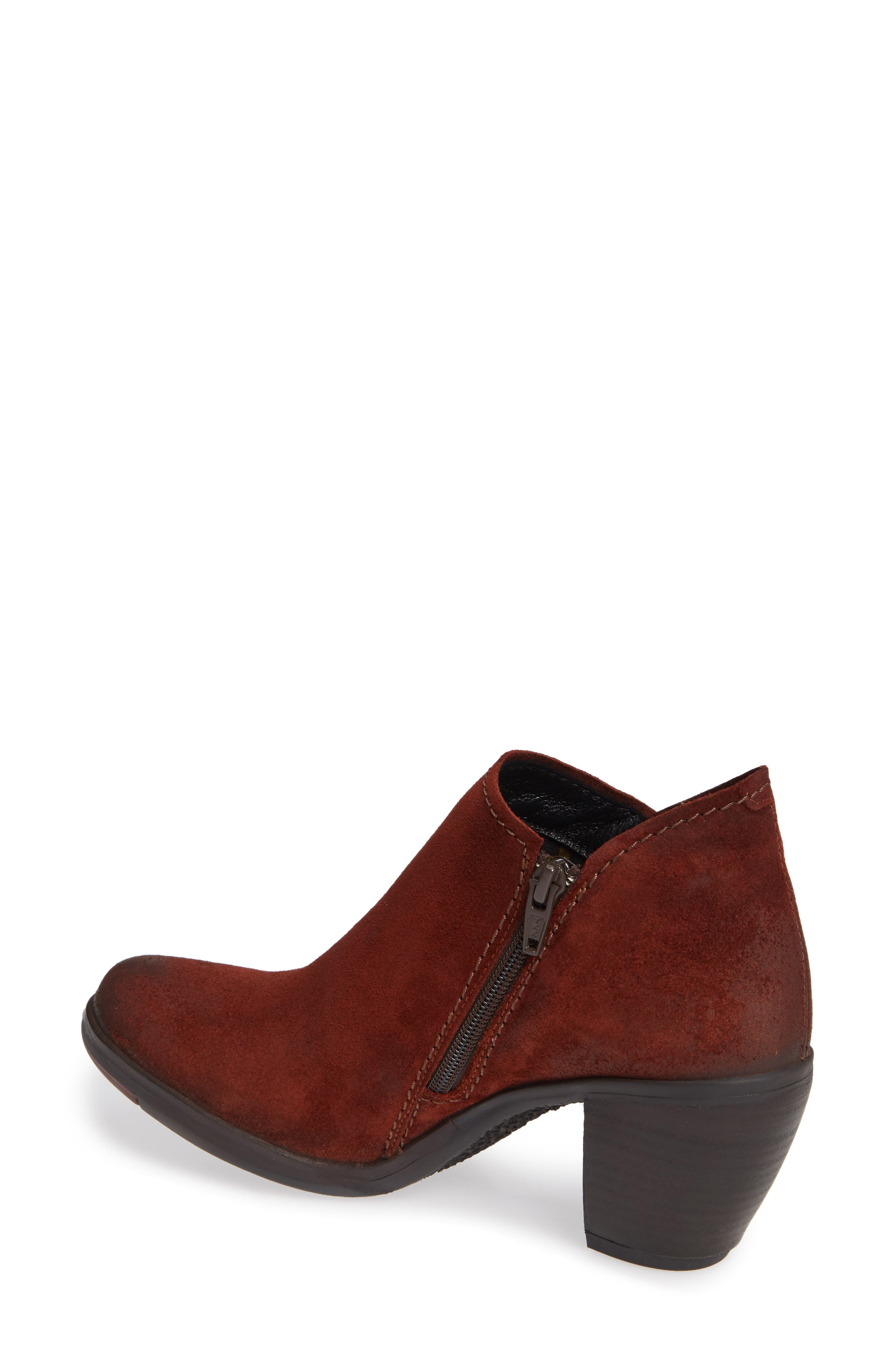 FLY LONDON,                             Hace Bootie,                             Alternate thumbnail 2, color,                             BRICK OIL SUEDE