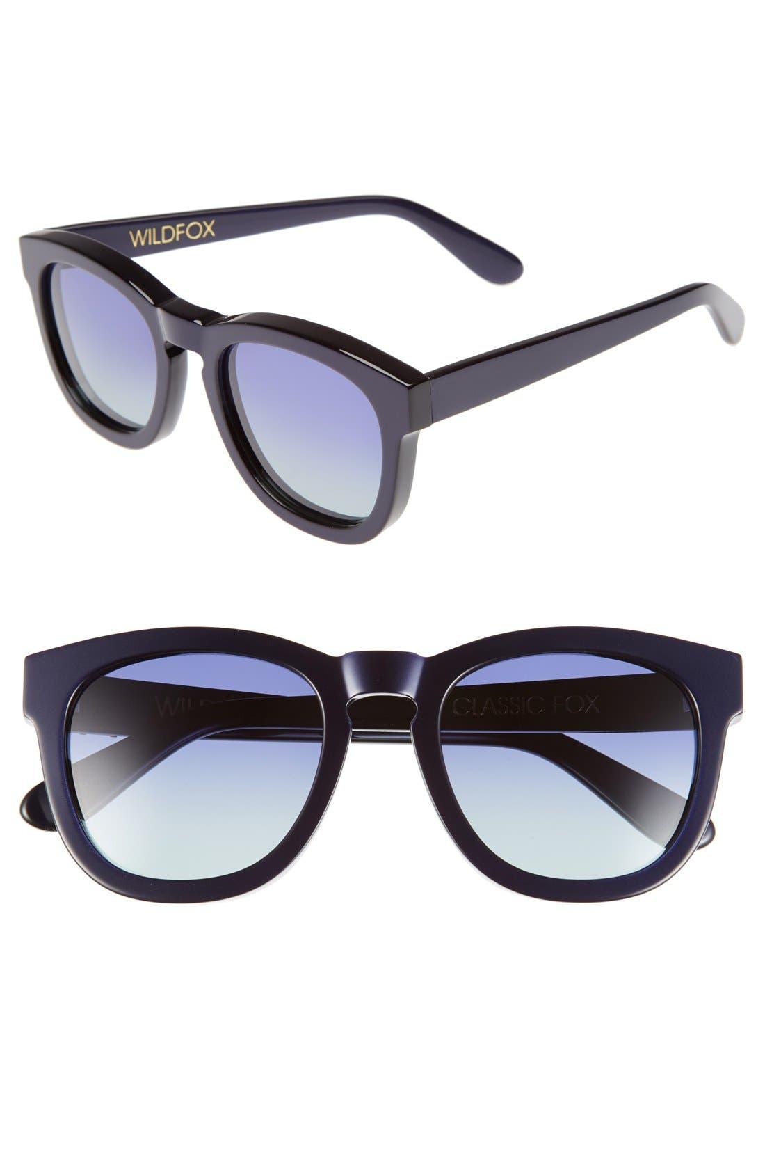 'Classic Fox' 50mm Retro Sunglasses,                             Main thumbnail 14, color,