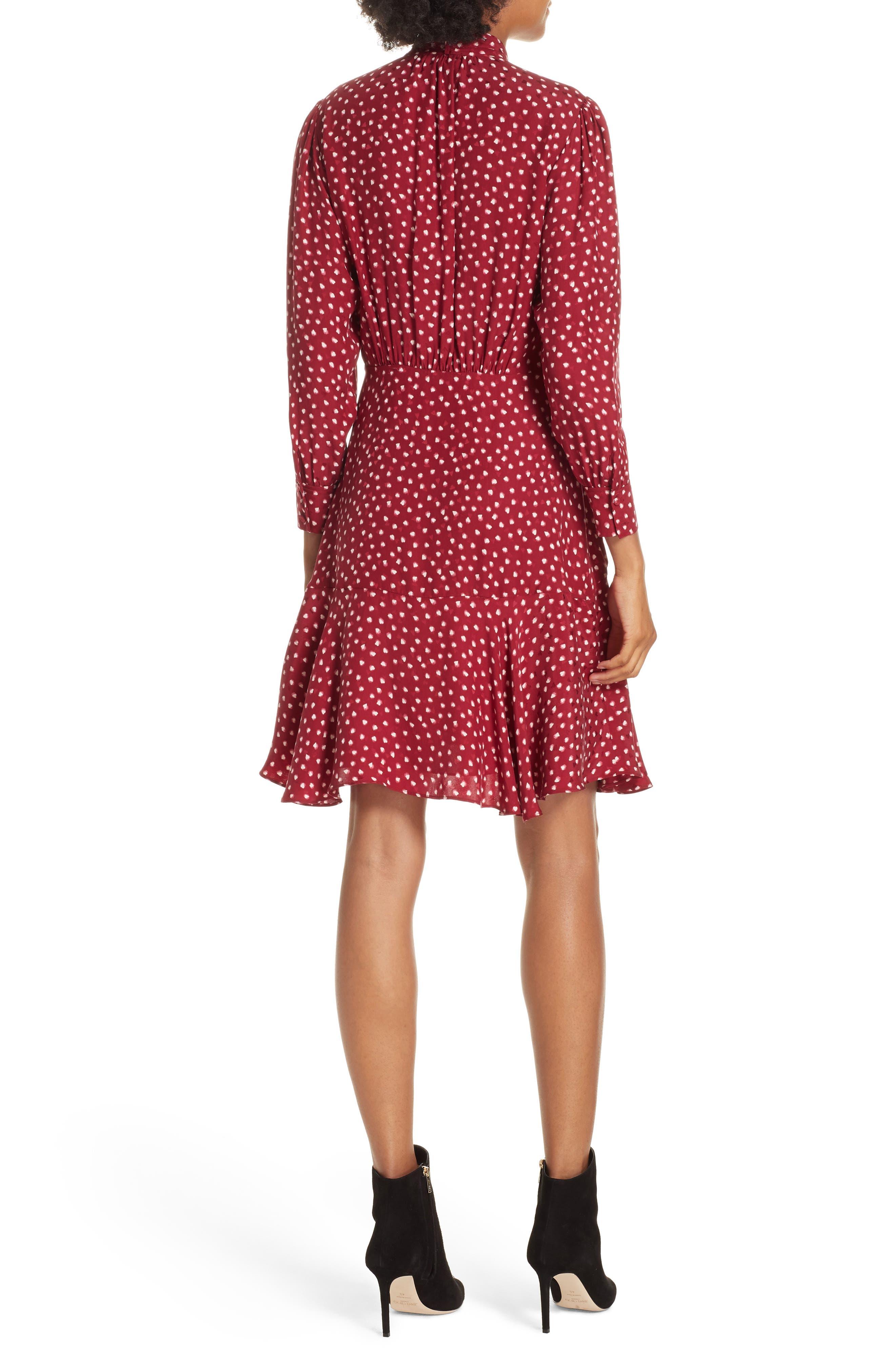 REBECCA TAYLOR,                             Dot Print Fit & Flare Dress,                             Alternate thumbnail 2, color,                             602