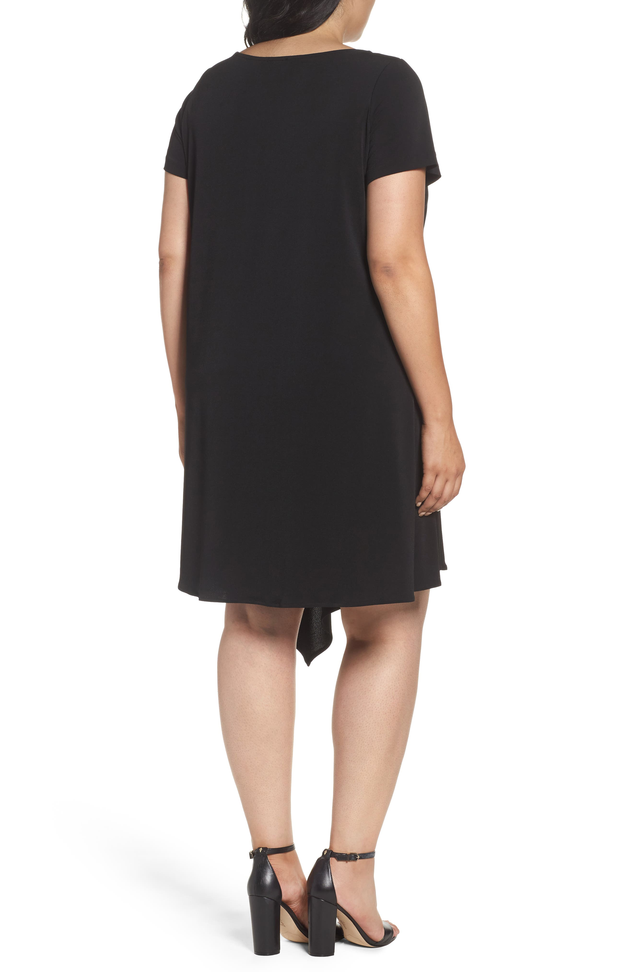 Darien Scarf Hem Dress,                             Alternate thumbnail 2, color,                             001