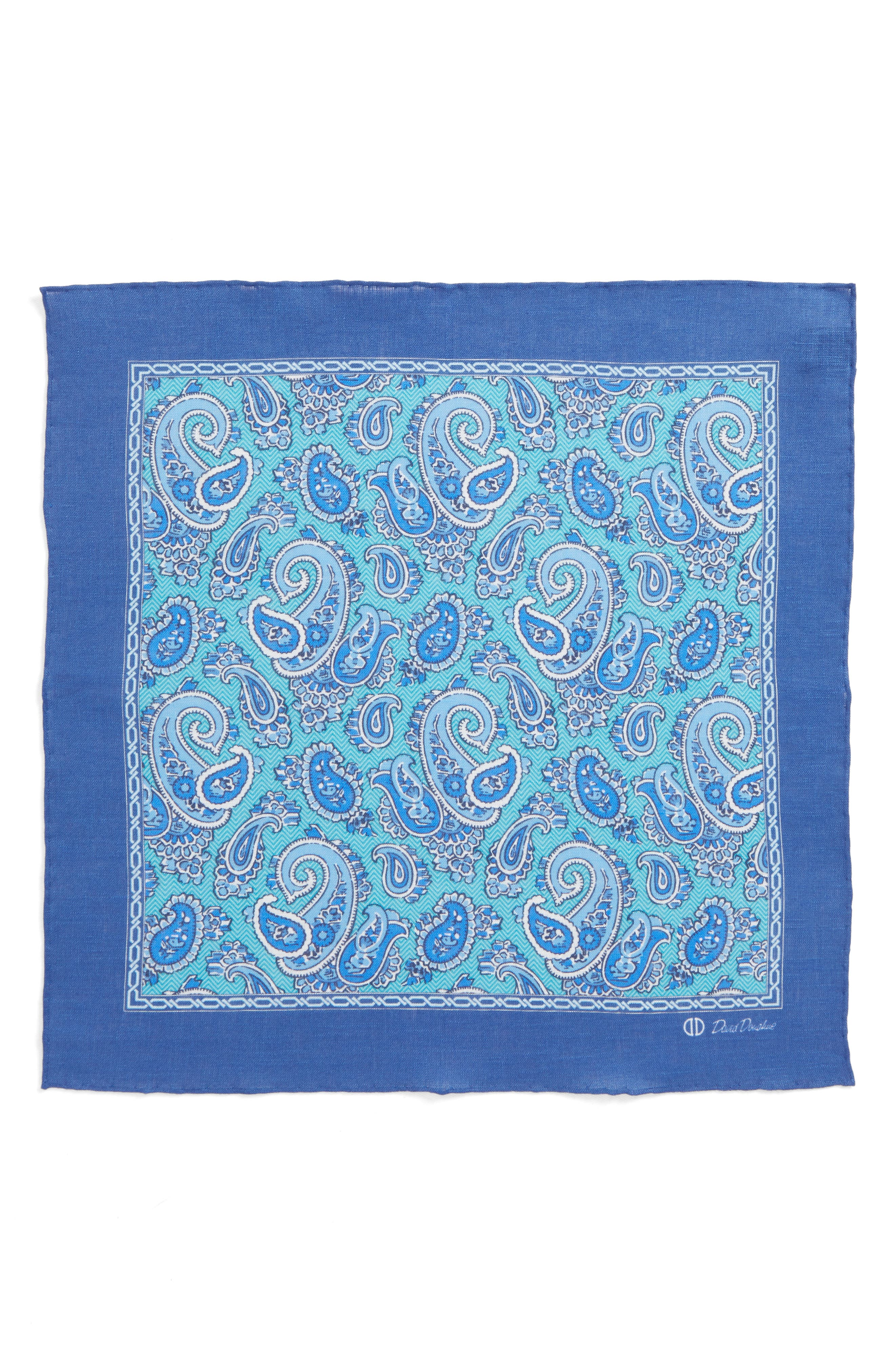 Paisley Linen Pocket Square,                             Alternate thumbnail 6, color,