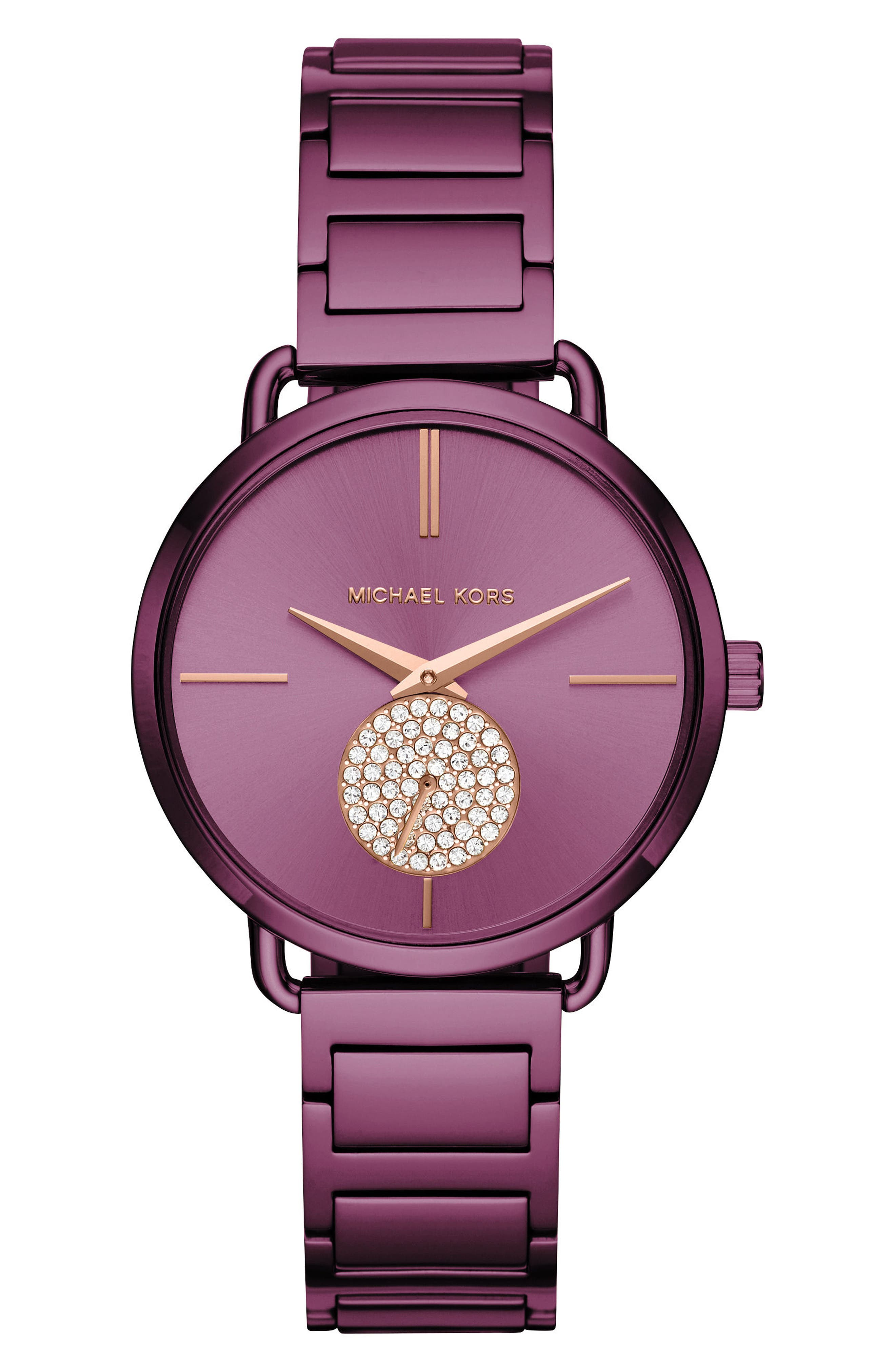 Portia Pavé Bracelet Watch, 36mm,                             Main thumbnail 1, color,                             500