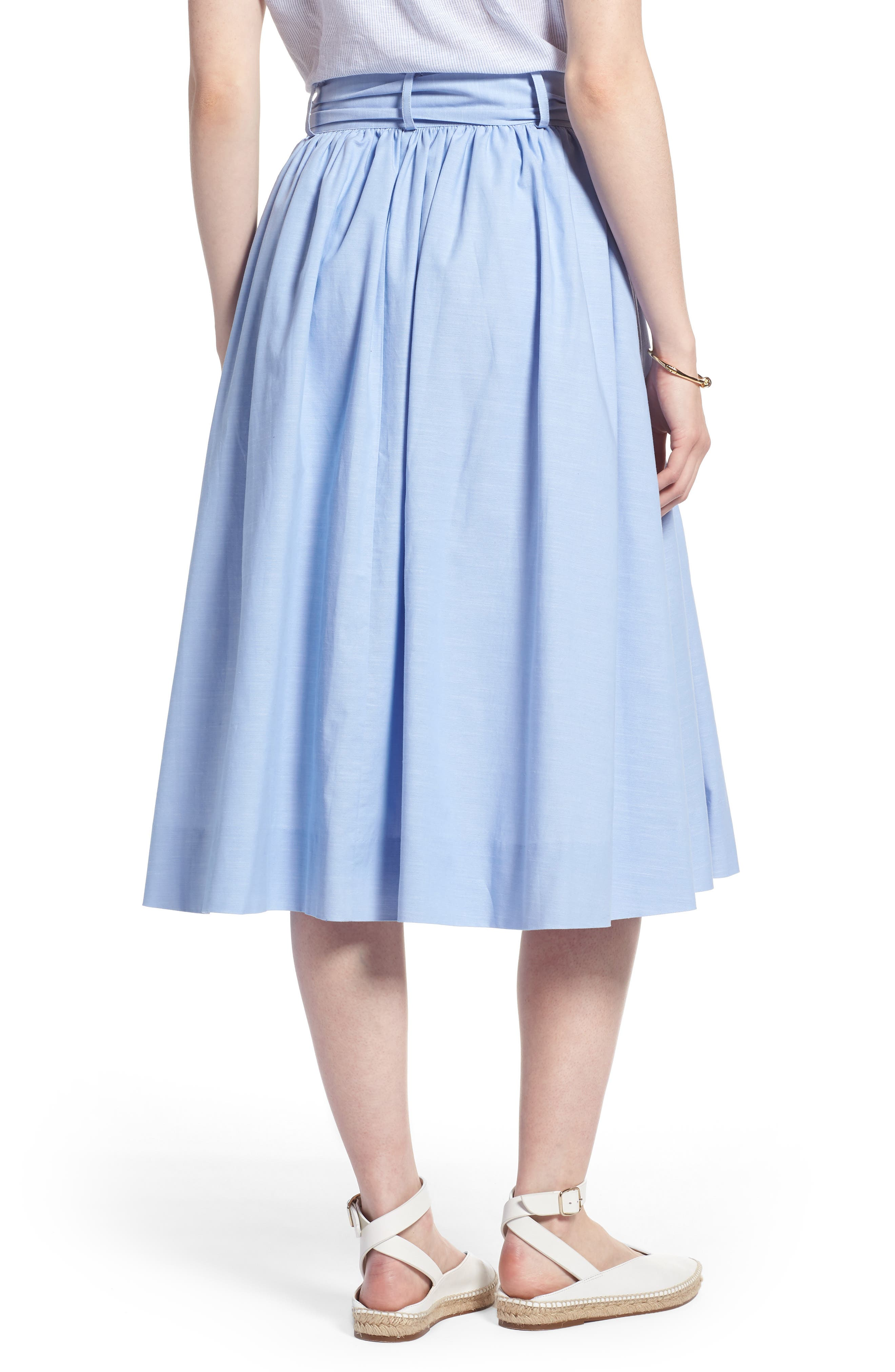 1901,                             Bow Tie Chambray Skirt,                             Alternate thumbnail 2, color,                             420