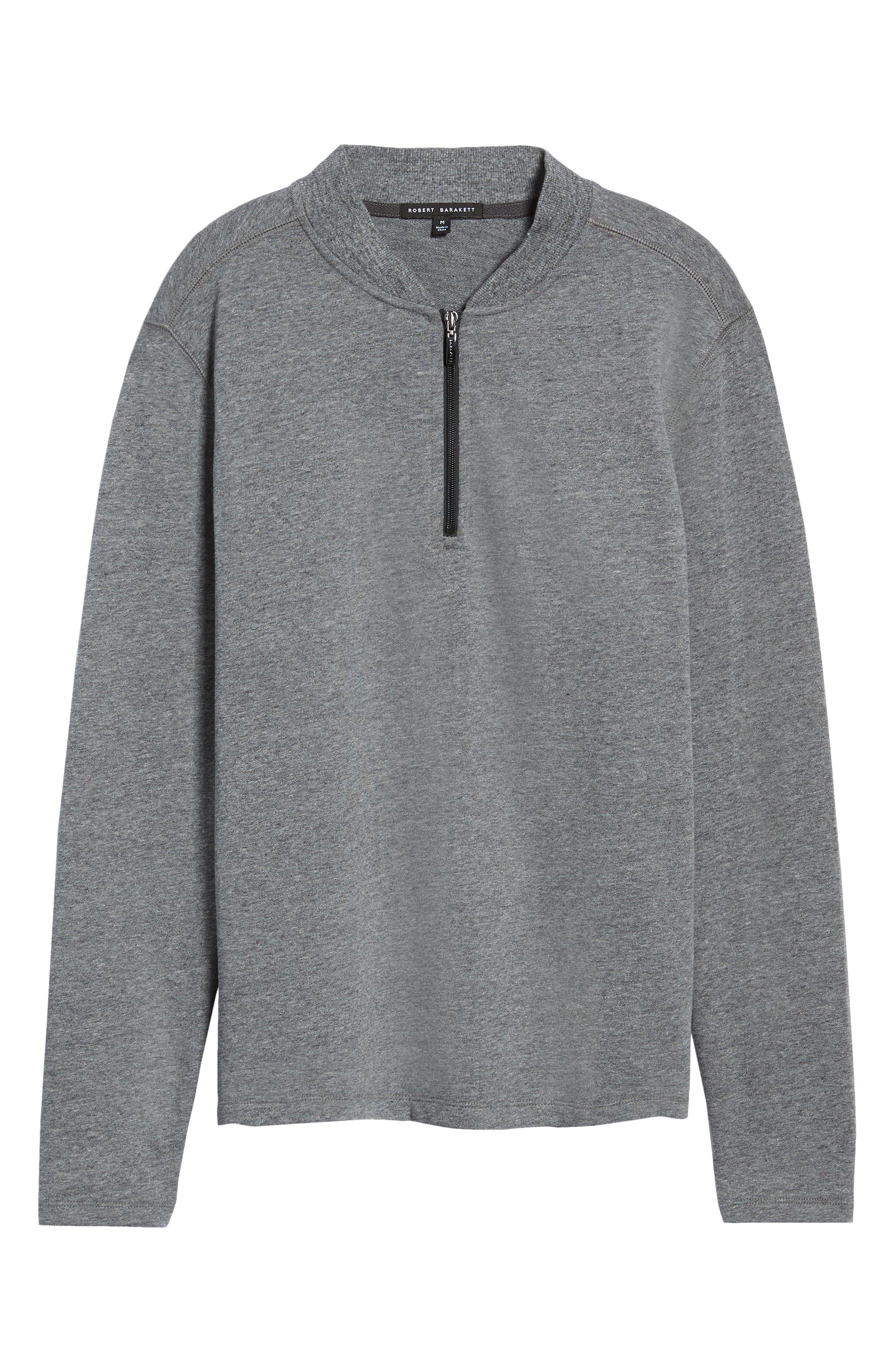 Carney Quarter Zip Sweatshirt,                             Alternate thumbnail 6, color,                             MID GREY