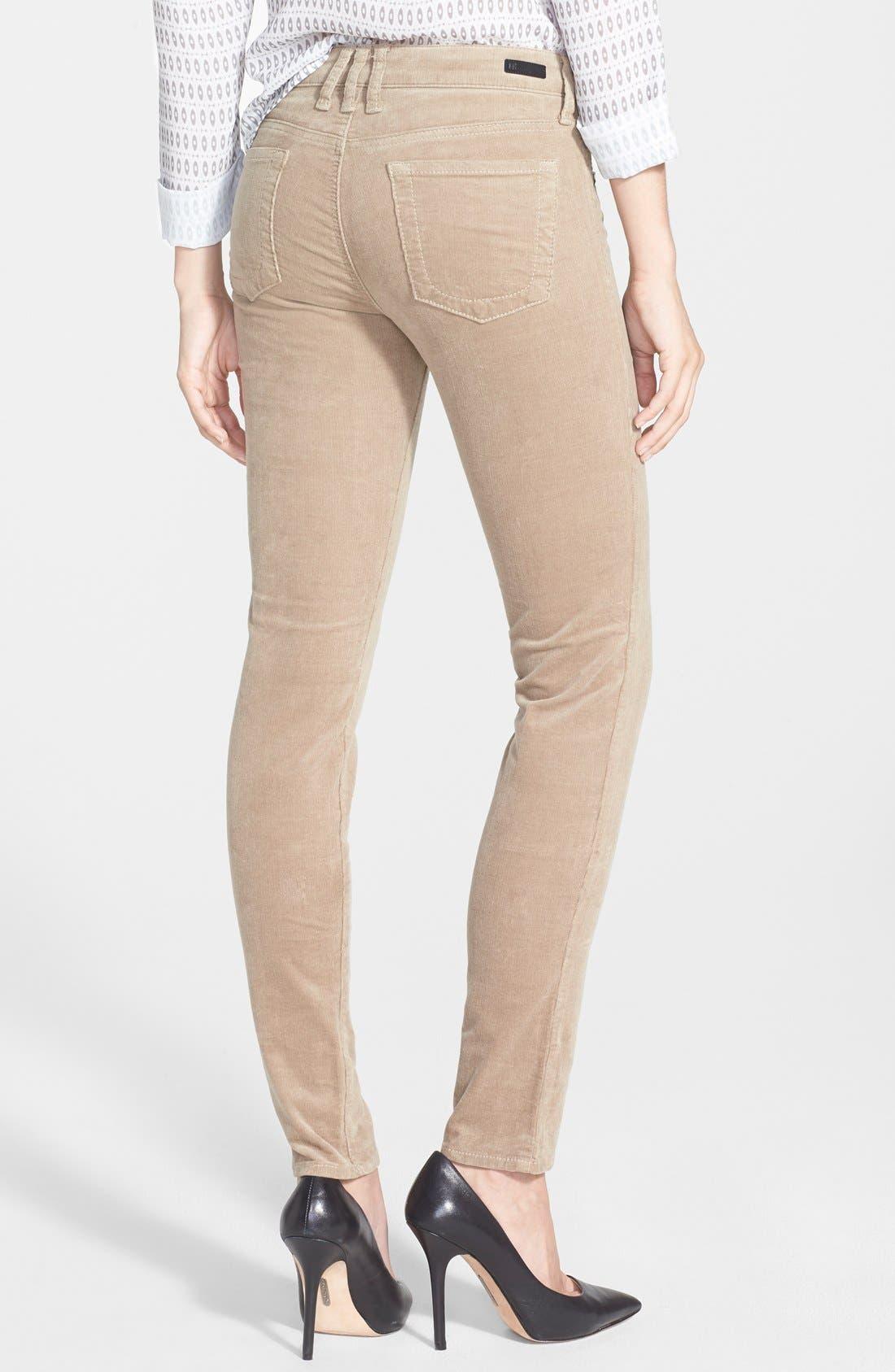 'Diana' Stretch Corduroy Skinny Pants,                             Alternate thumbnail 128, color,