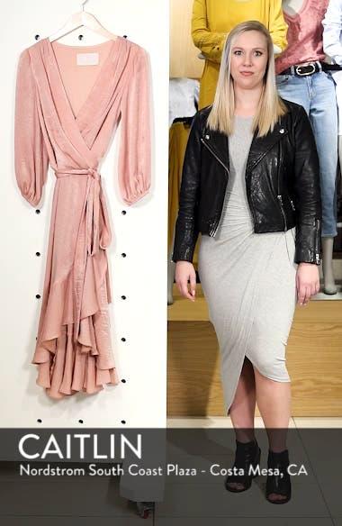 Jennifer Shimmer Satin Wrap Dress, sales video thumbnail