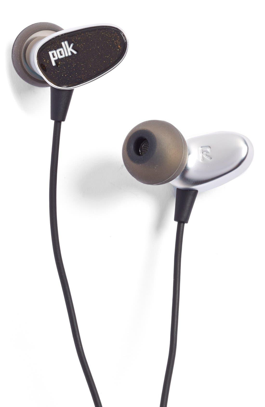 POLK AUDIO,                             'Nue Era' In-Ear Headphones,                             Main thumbnail 1, color,                             001