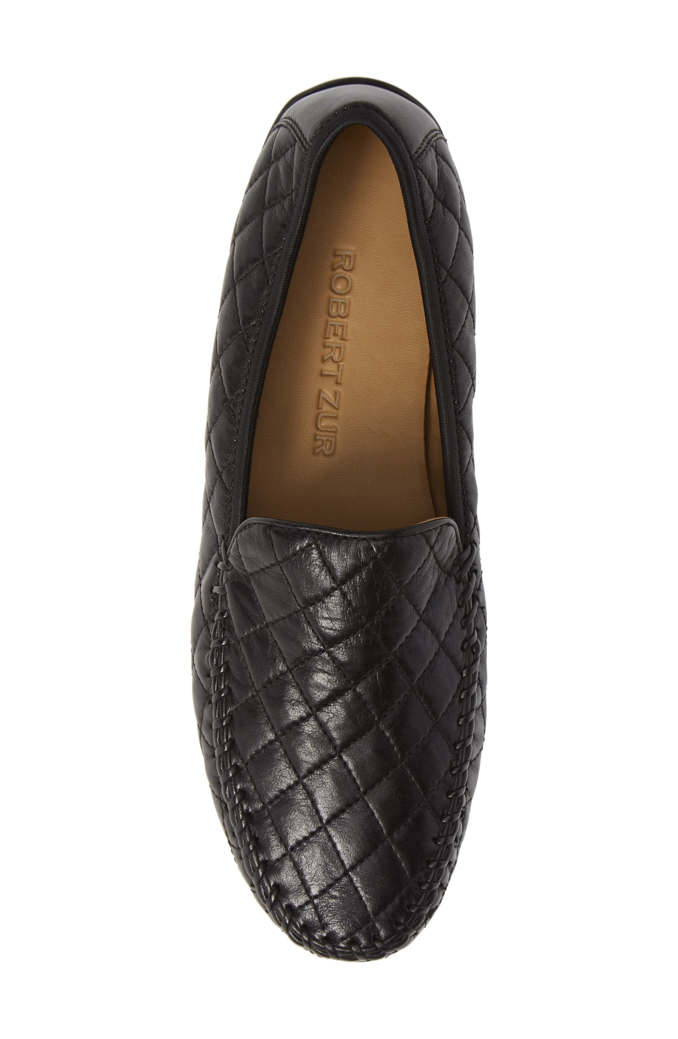 'Quana' Loafer,                             Alternate thumbnail 5, color,                             BLACK
