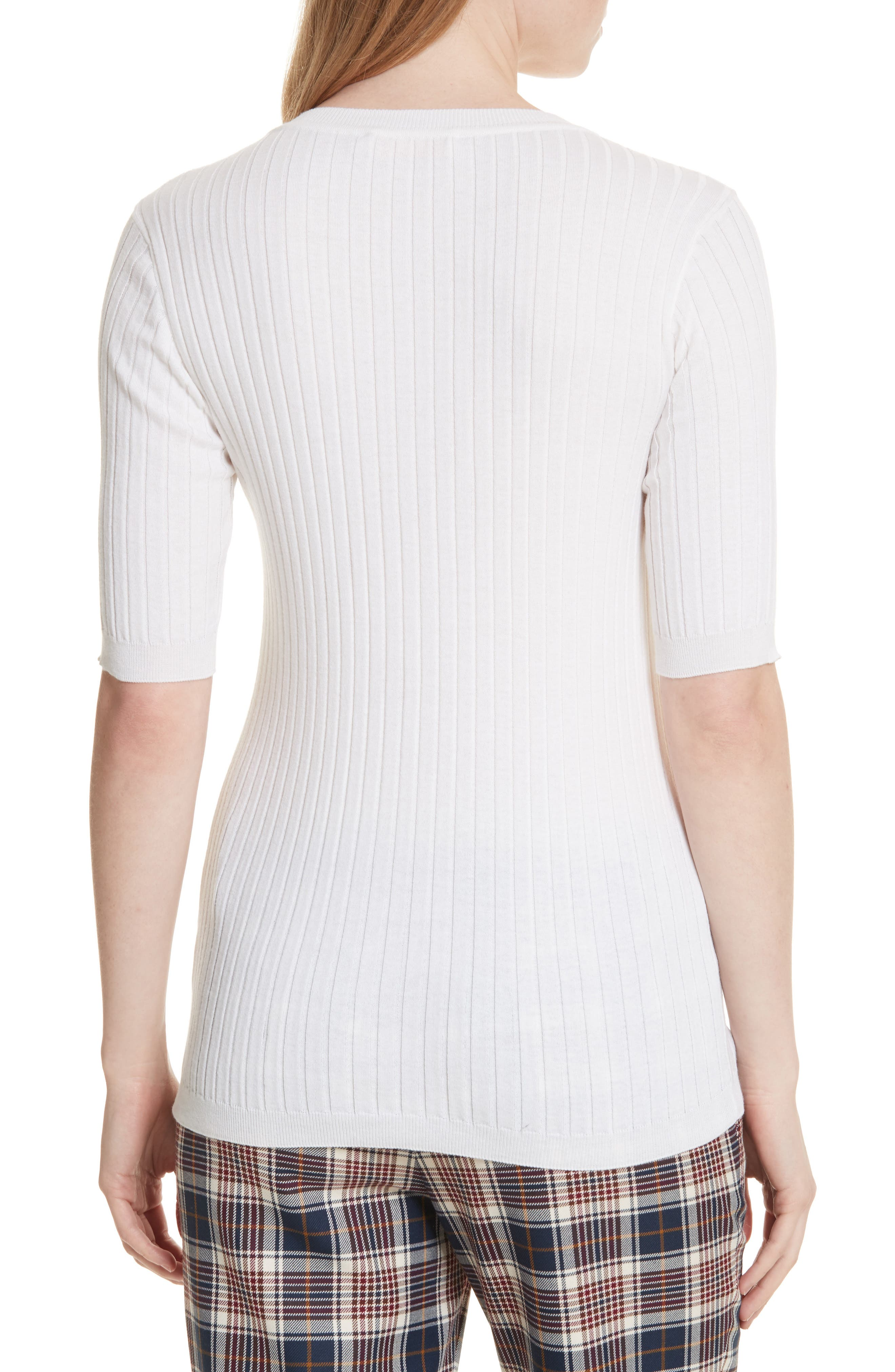Ribbed Cotton & Cashmere Henley,                             Alternate thumbnail 2, color,                             100