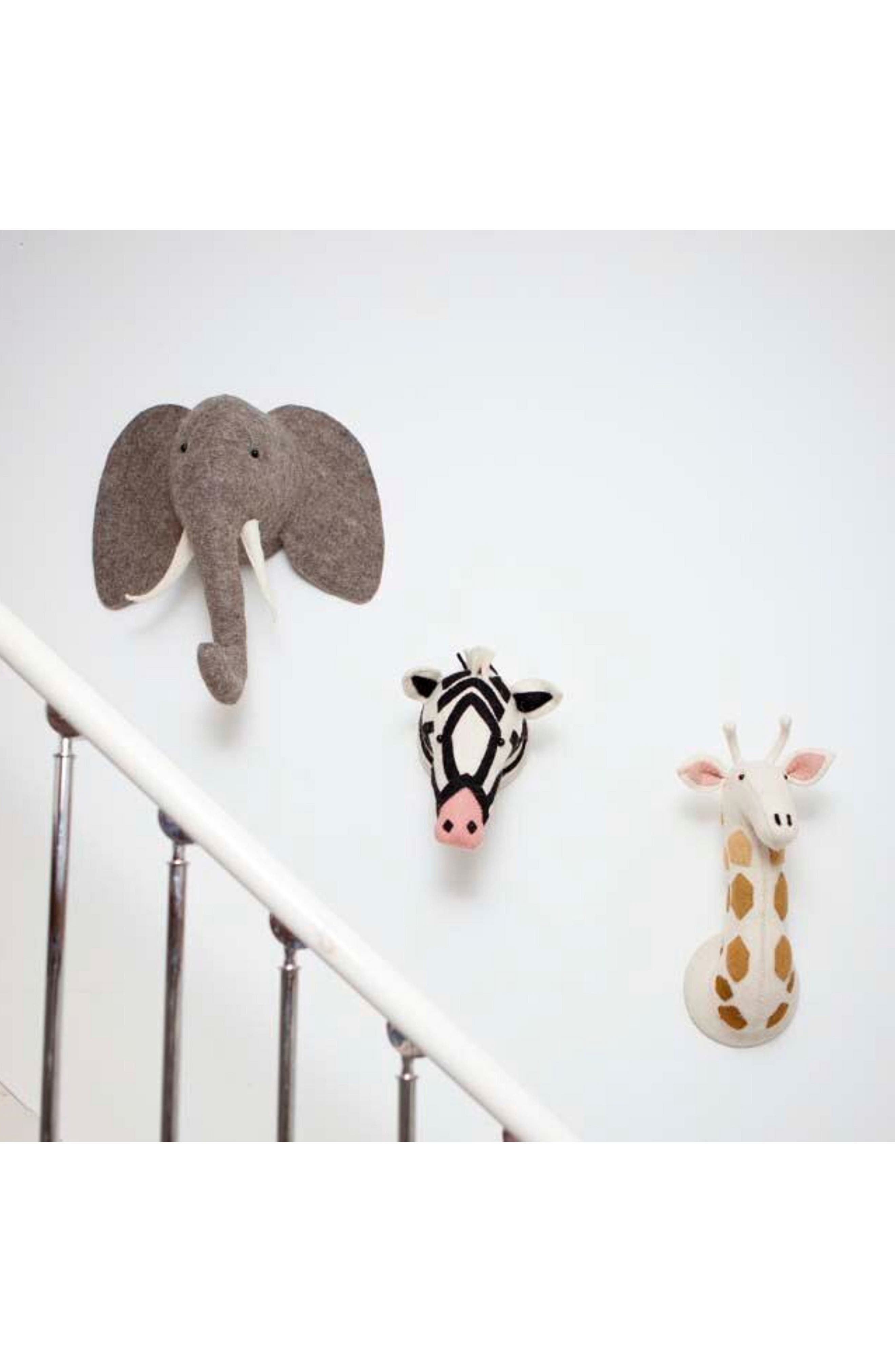 Elephant Head Wall Art,                             Alternate thumbnail 3, color,                             GREY