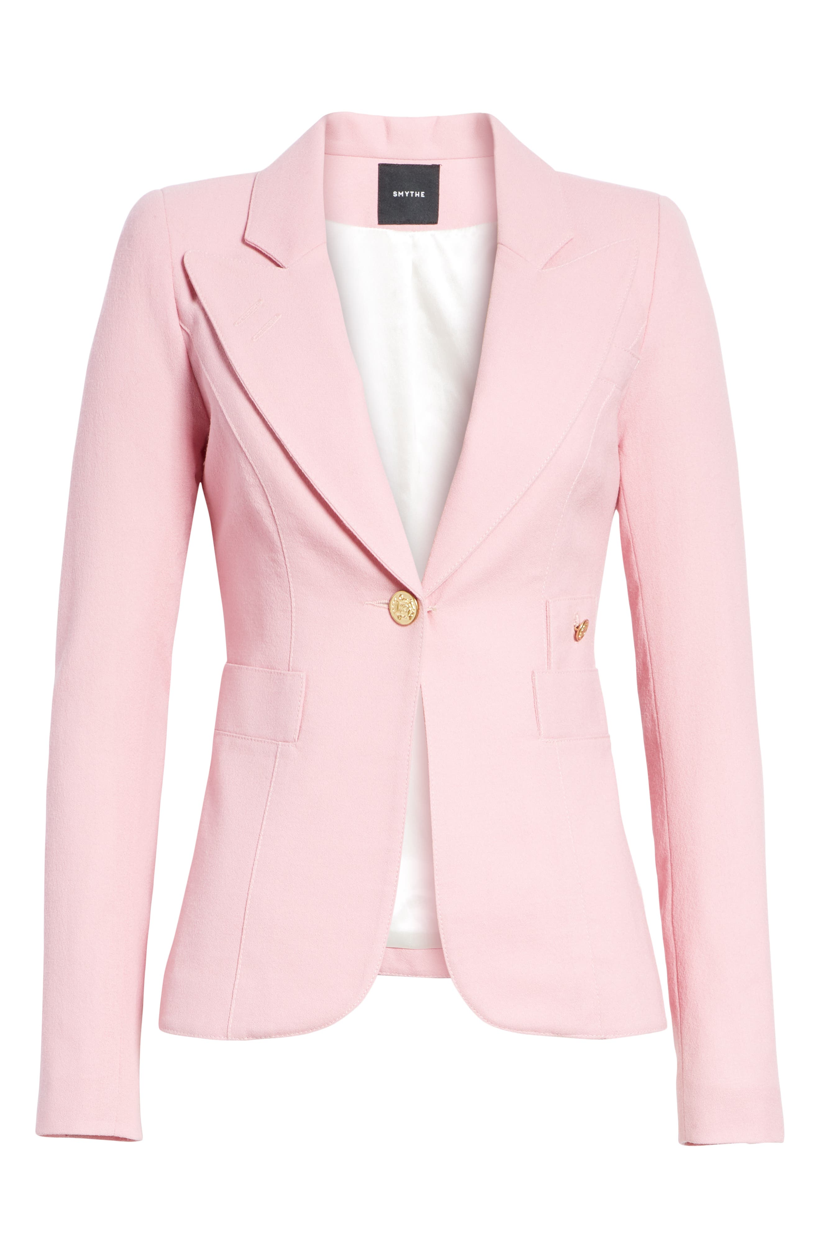Classic Duchess Blazer,                             Alternate thumbnail 5, color,                             RETHINK PINK
