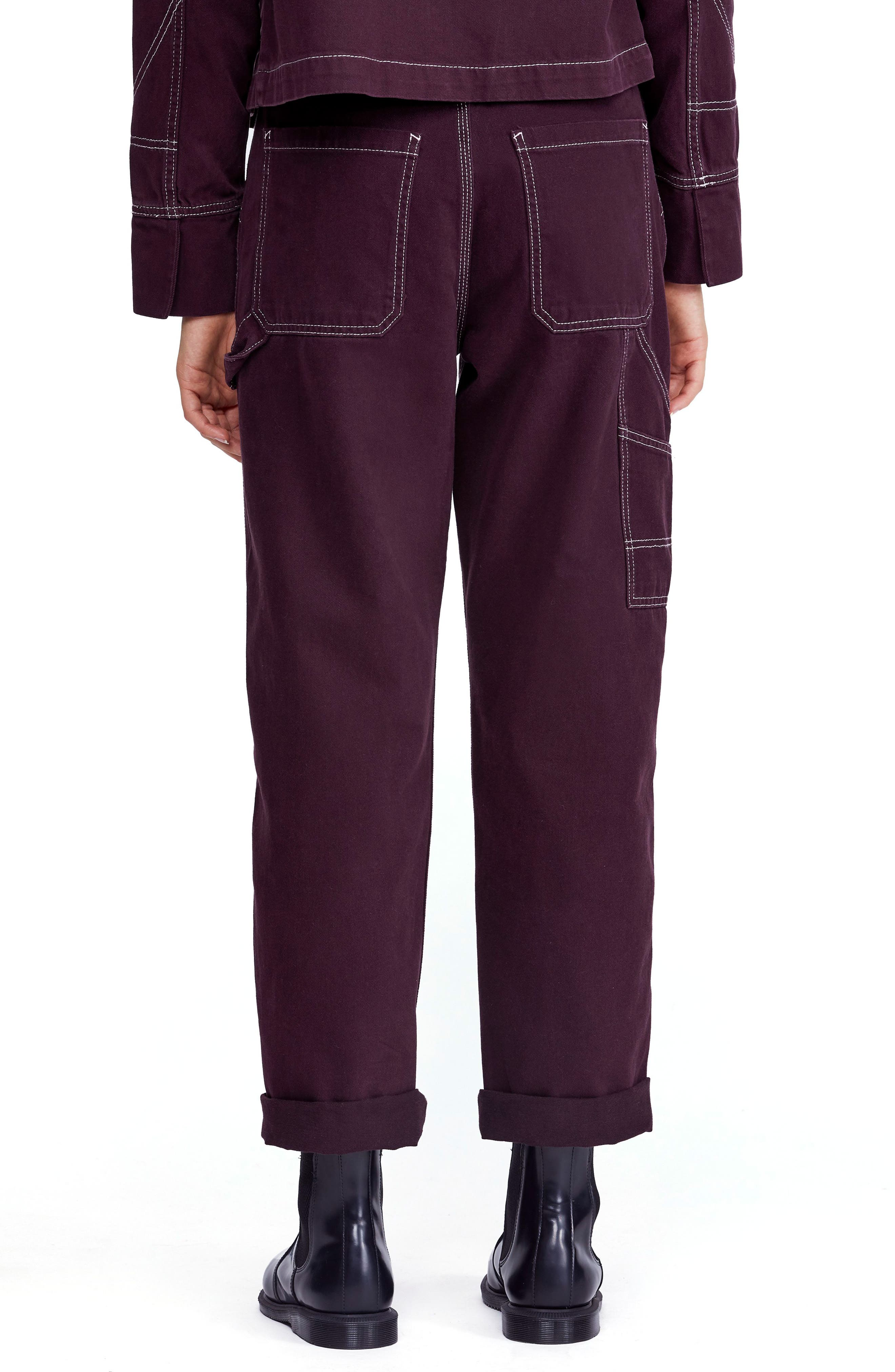 Urban Outfitters Workwear Pants,                             Alternate thumbnail 2, color,                             WINE