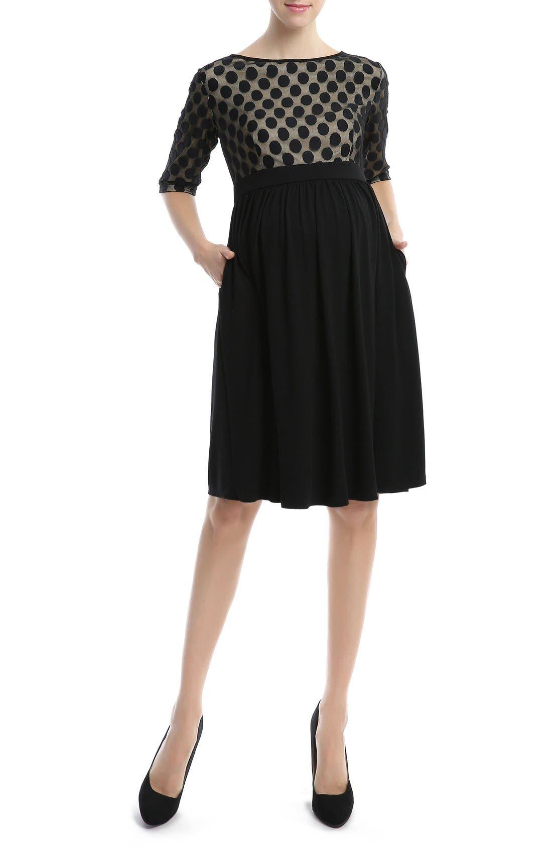 'Charlie' Maternity Dress,                         Main,                         color, 001