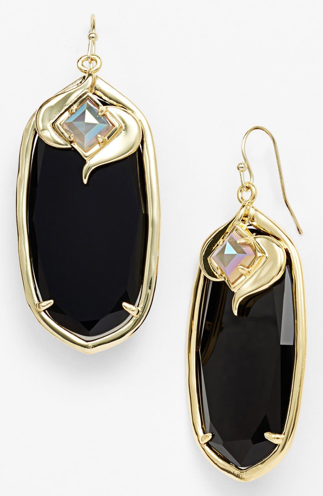 'Gabby' Oval Stone Drop Earrings, Main, color, 001