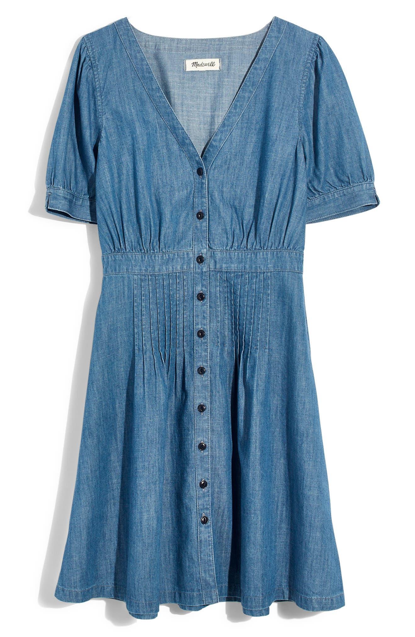 Denim Daylily Dress,                             Alternate thumbnail 6, color,                             ANNETTA WASH