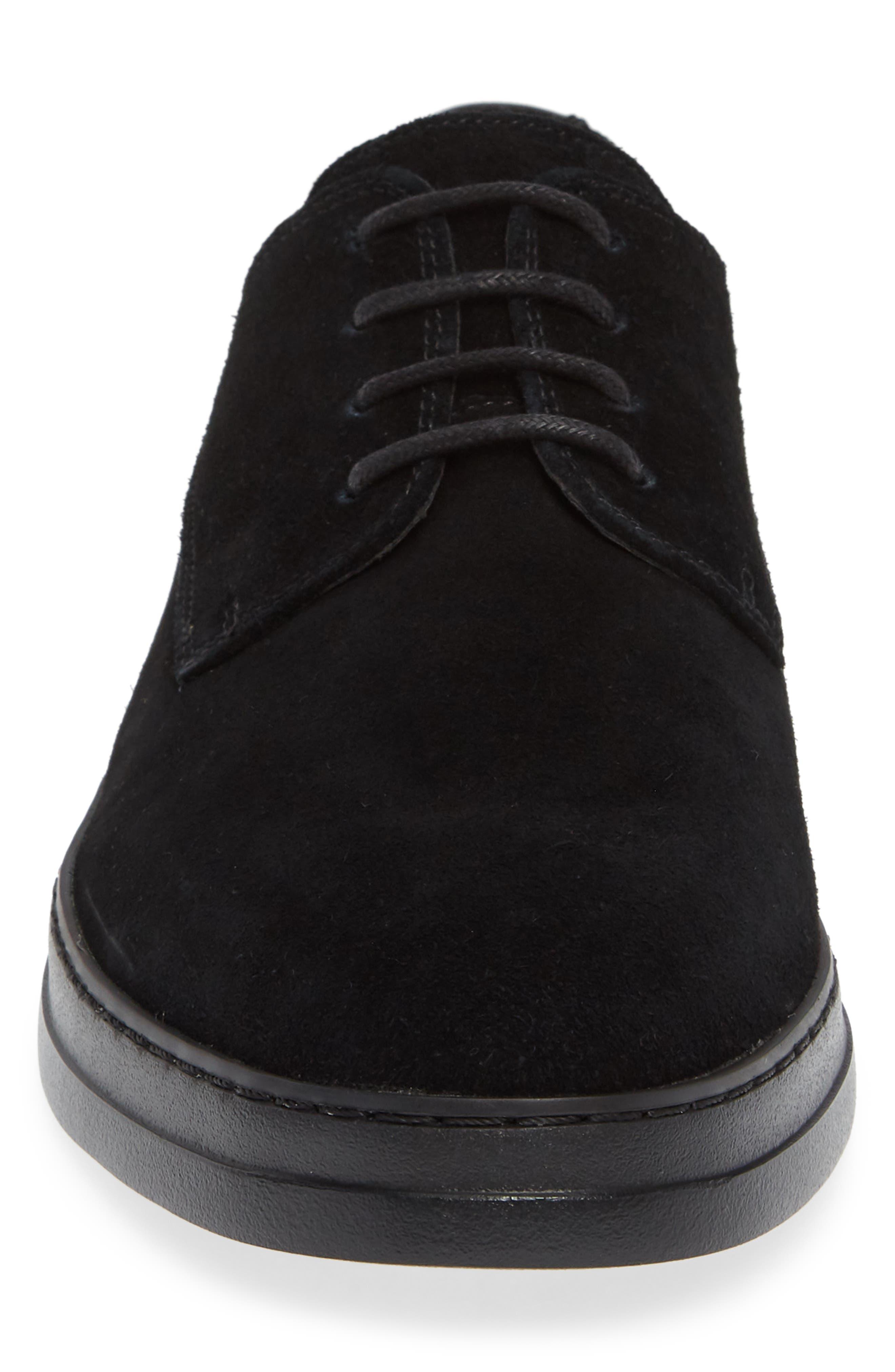 Rickie Buck Shoe,                             Alternate thumbnail 4, color,                             BLACK CALF SUEDE