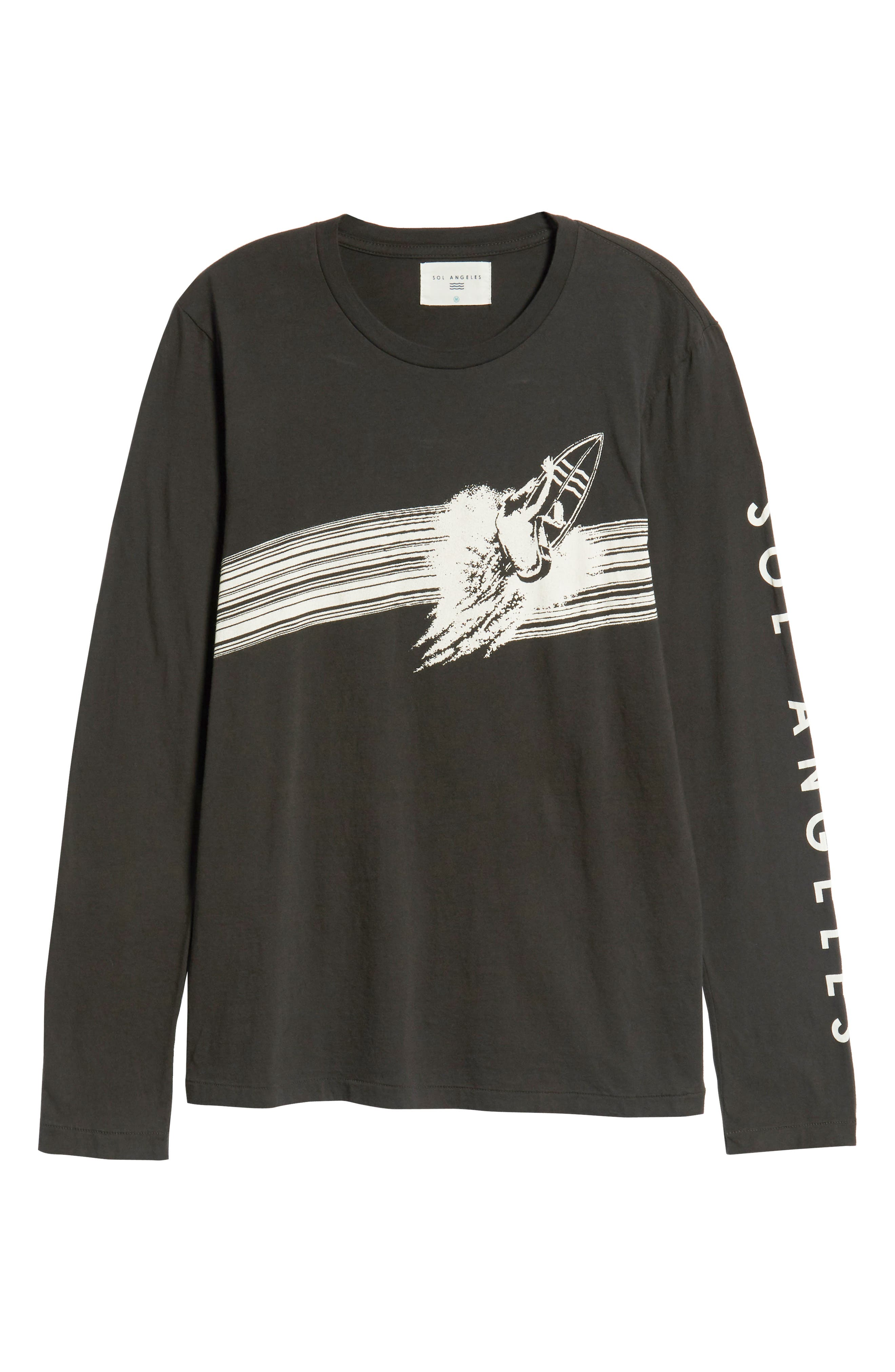 Highline Graphic T-Shirt,                             Alternate thumbnail 6, color,                             V BLACK