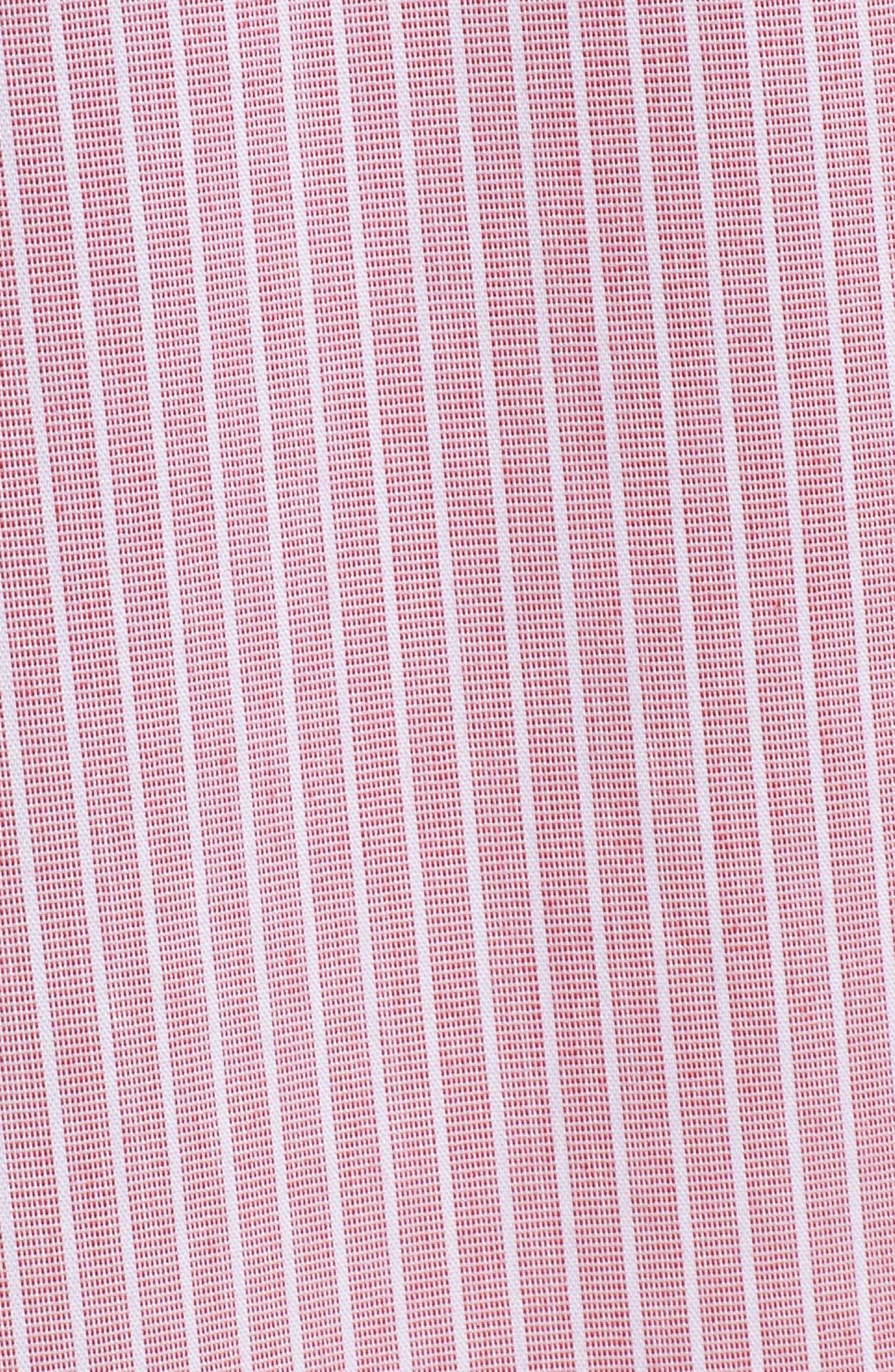Mixed Stripe Poplin A-Line Skirt,                             Alternate thumbnail 10, color,