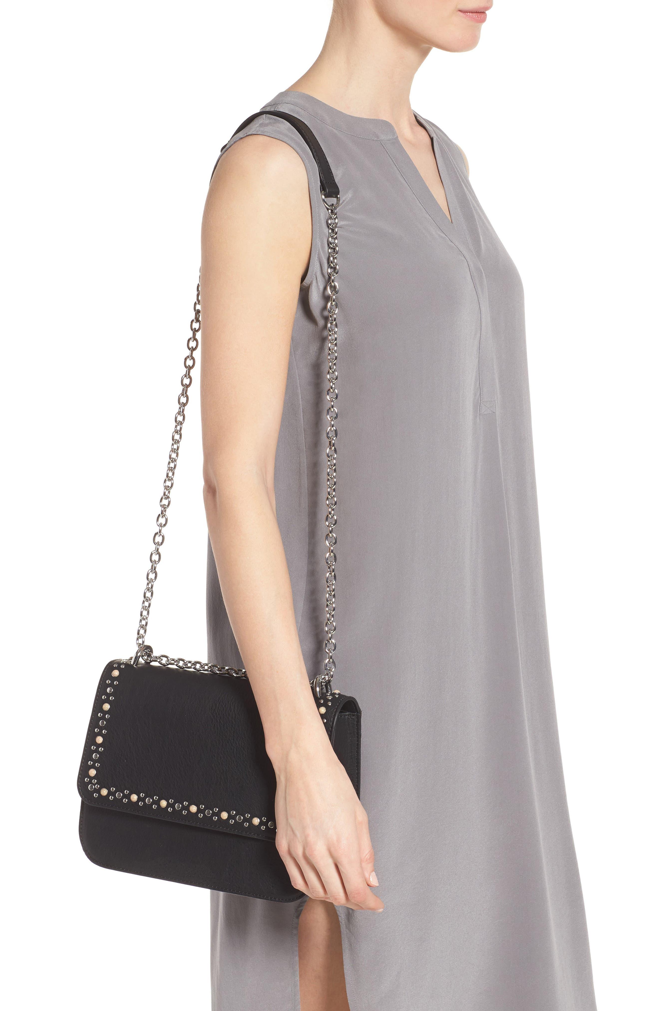 Dahlia Stone Faux Leather Crossbody Bag,                             Alternate thumbnail 2, color,                             001