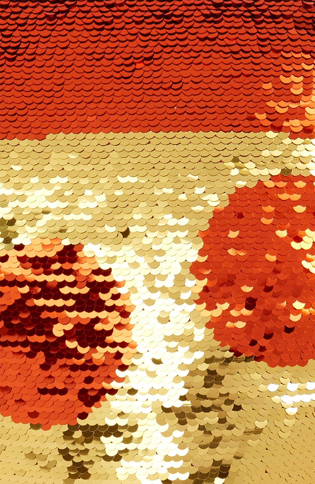 Flip Sequin Pizza Slice Pillow,                             Alternate thumbnail 3, color,                             659