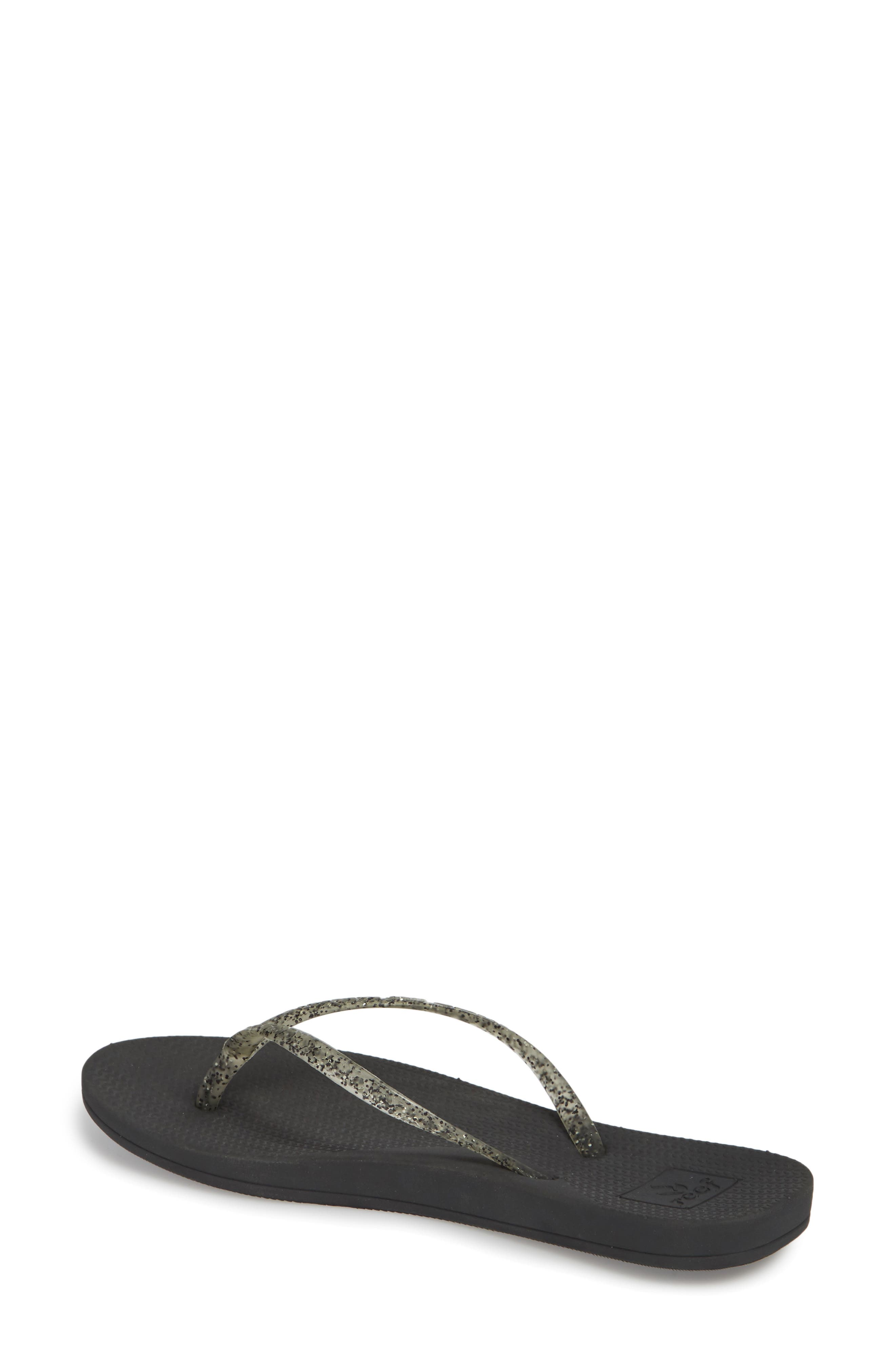 Lux Shimmer Flip Flop,                             Alternate thumbnail 2, color,                             001