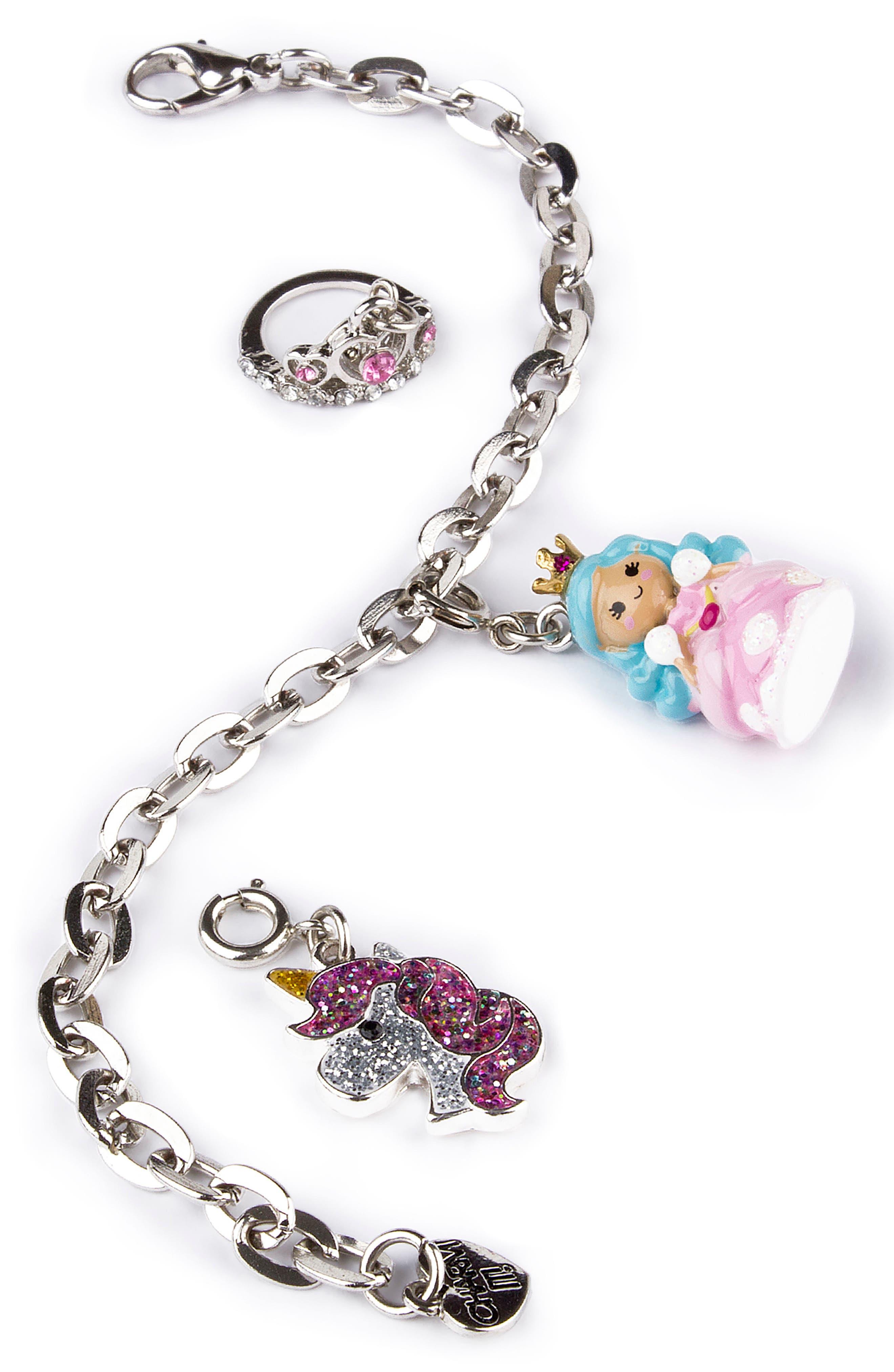 CHARM IT!<sup>®</sup> Princess Charm Bracelet Gift Set,                         Main,                         color, MULTI