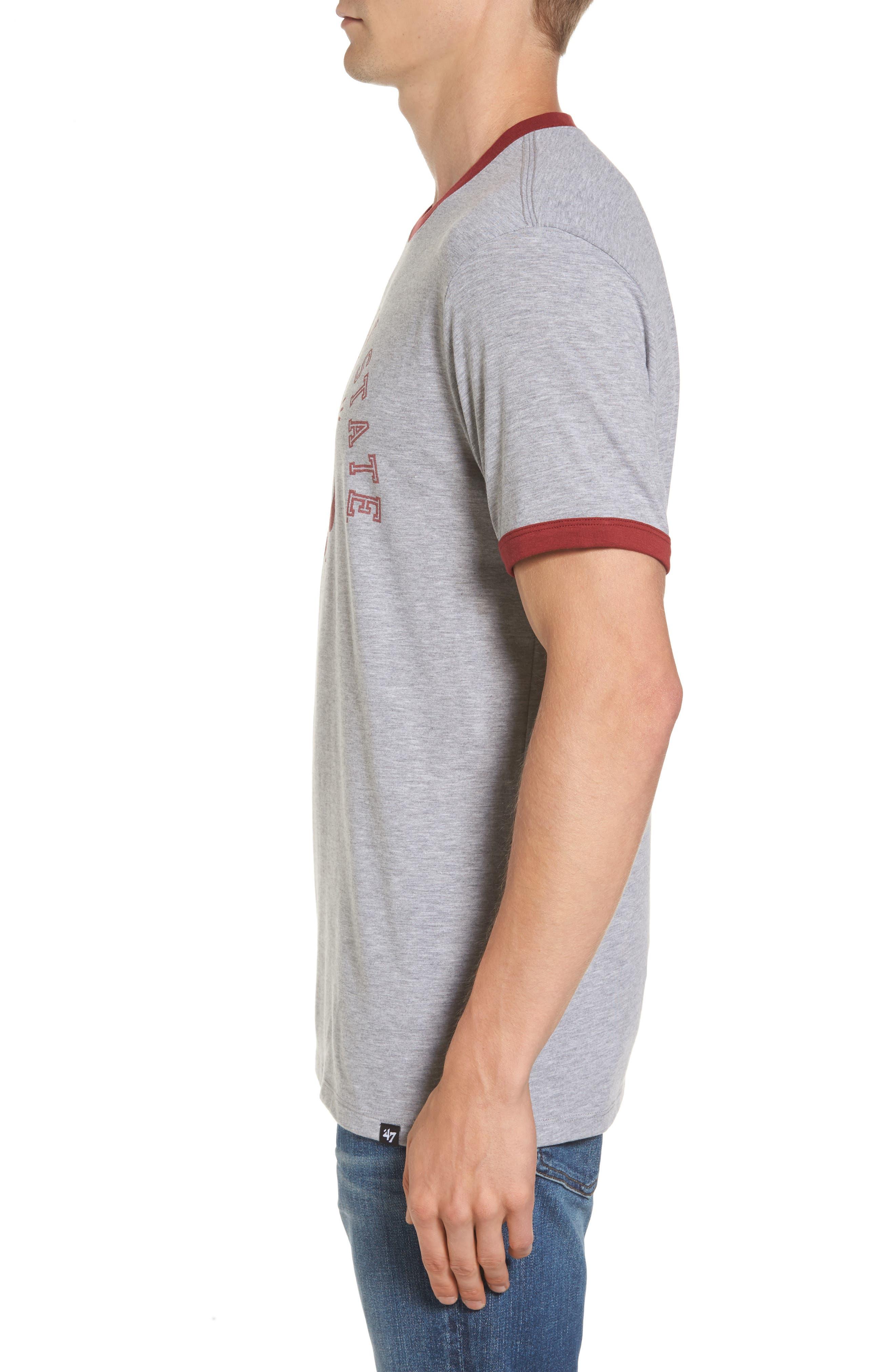 Washington State University Cougars Ringer T-Shirt,                             Alternate thumbnail 3, color,                             020
