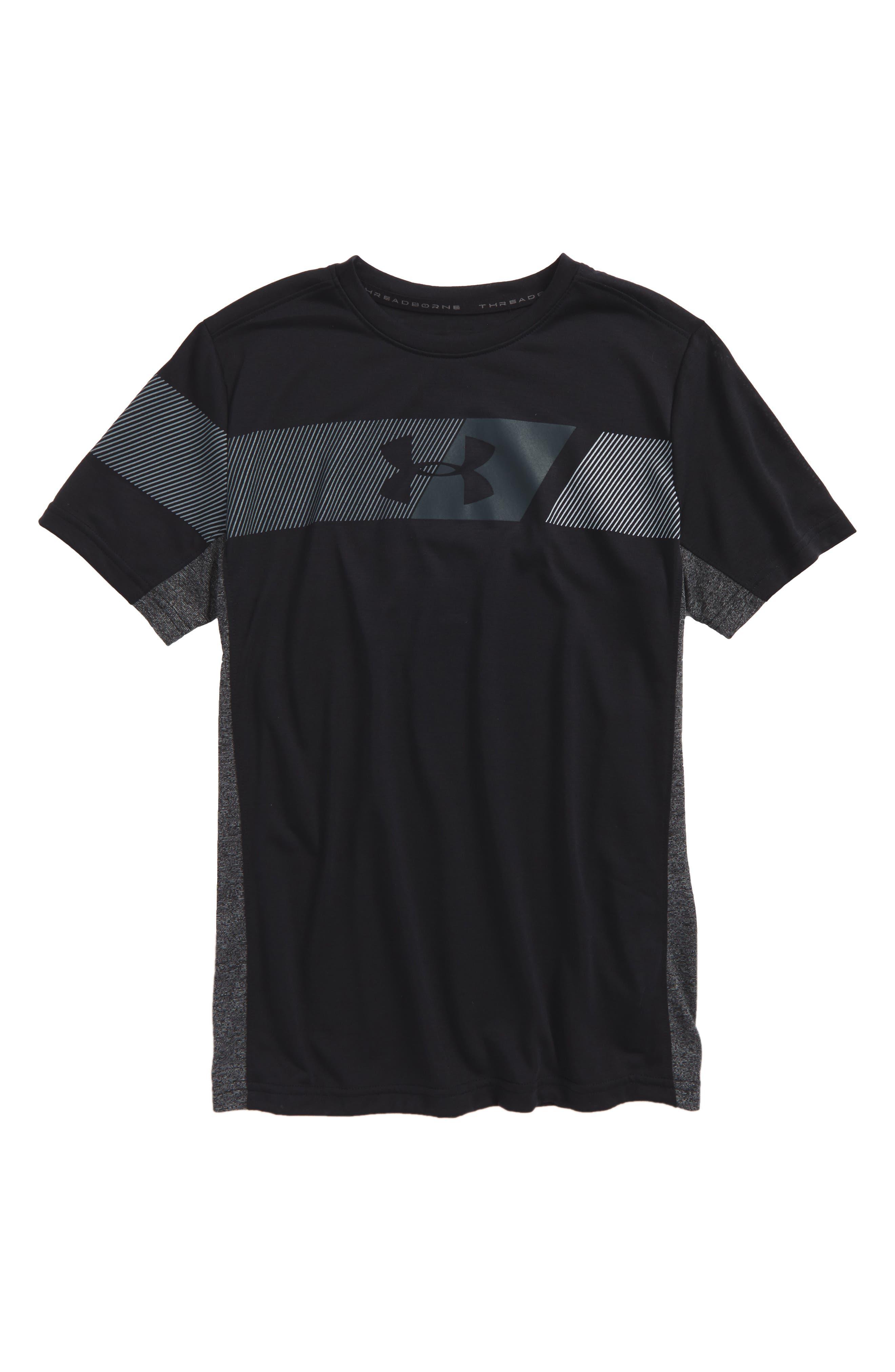 Threadborne HeatGear<sup>®</sup> T-Shirt,                             Main thumbnail 1, color,                             001