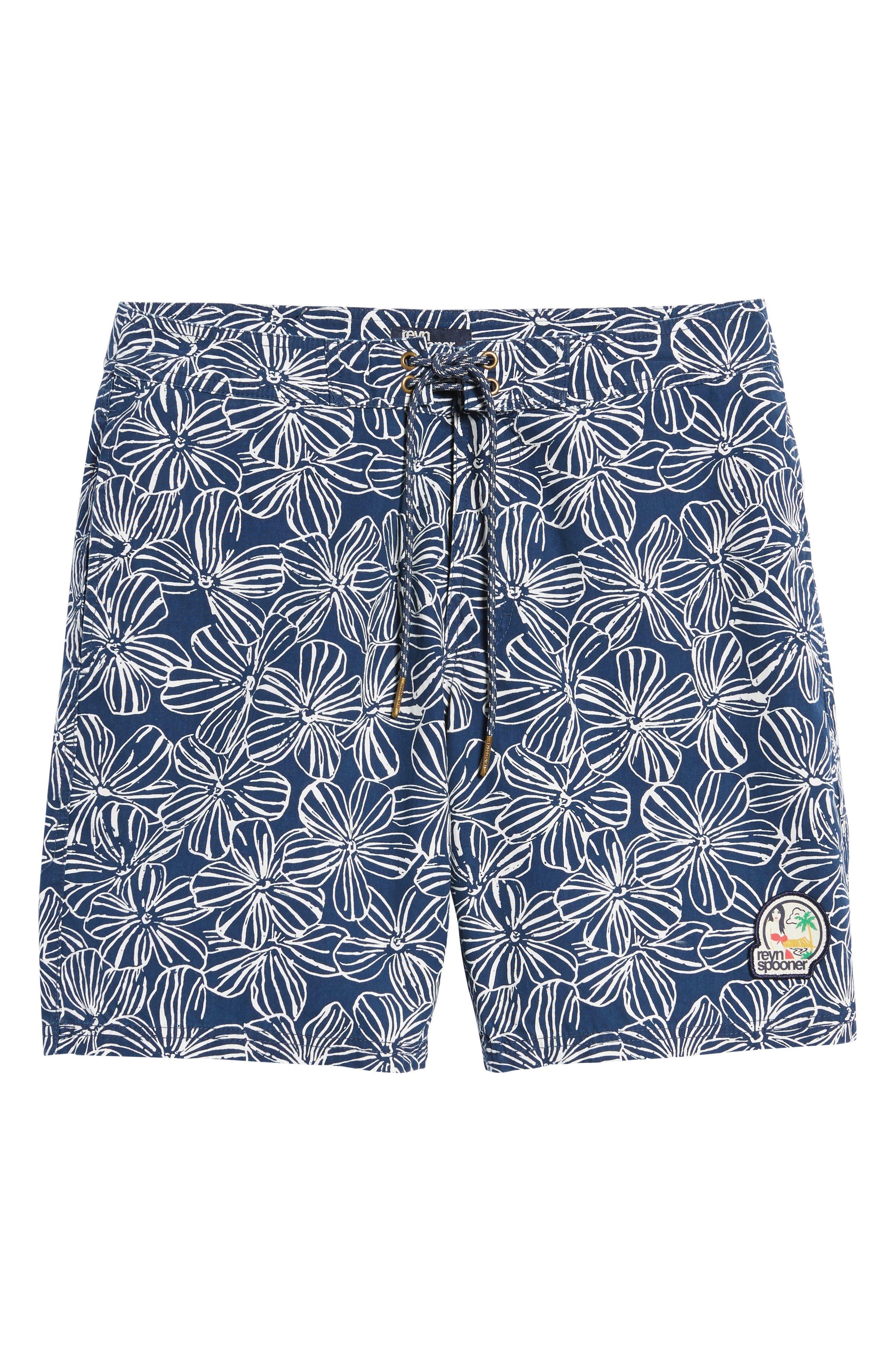 Mala Melia Regular Fit Board Shorts,                             Alternate thumbnail 6, color,                             BLUE