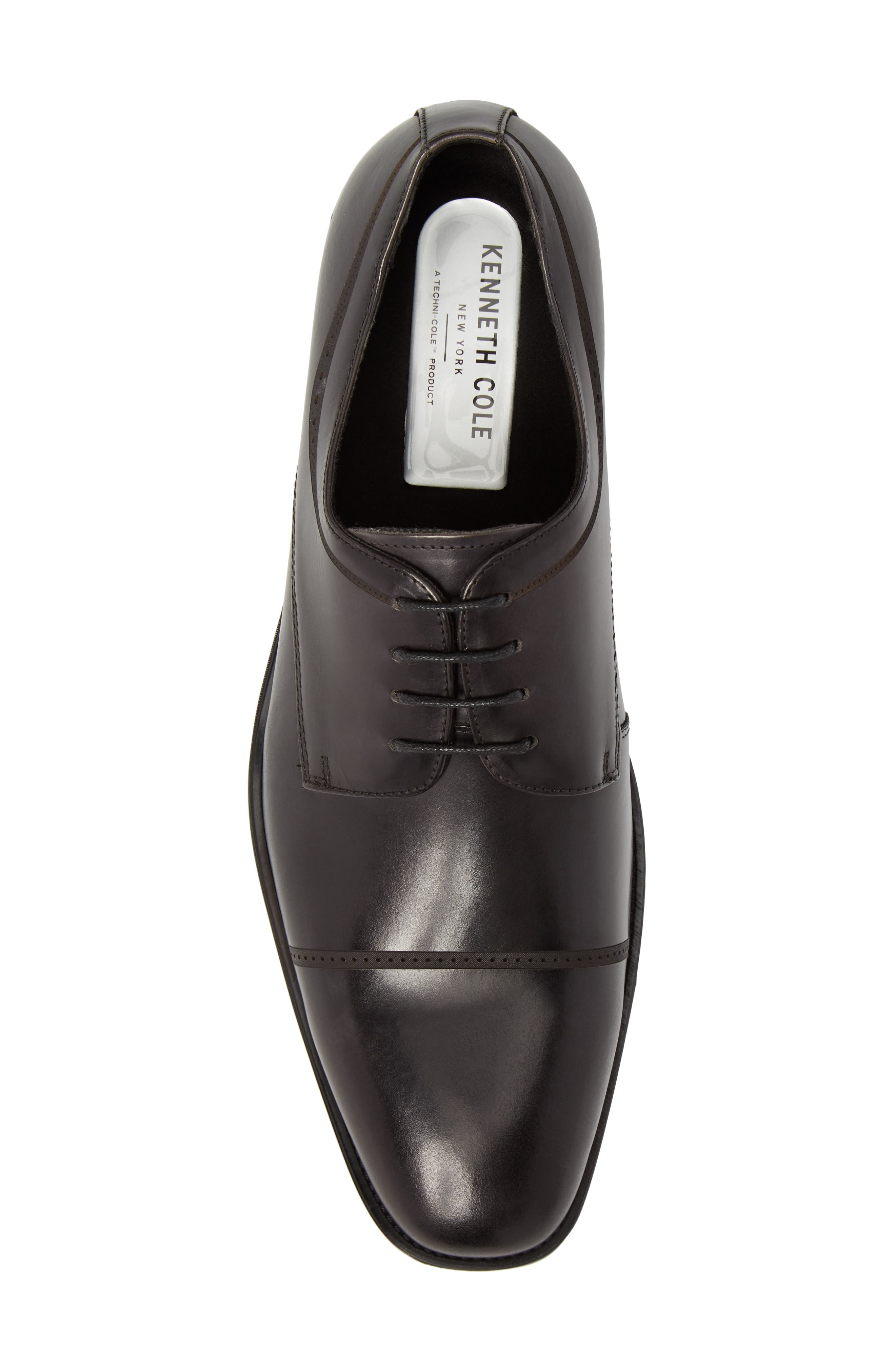 Leisure Time Cap Toe Derby,                             Alternate thumbnail 5, color,                             DARK GREY LEATHER