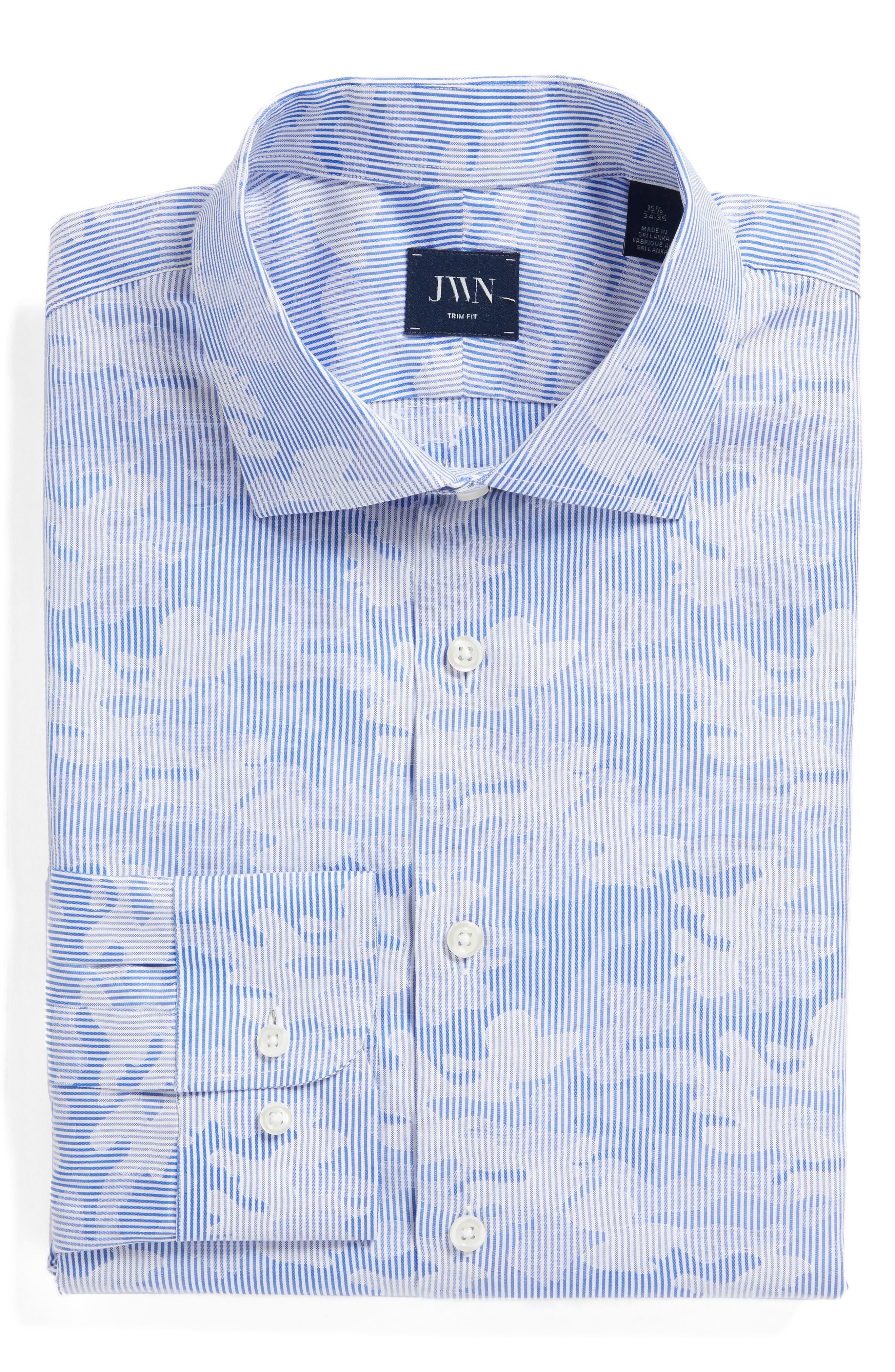 Trim Fit Camo Dress Shirt,                         Main,                         color, 050