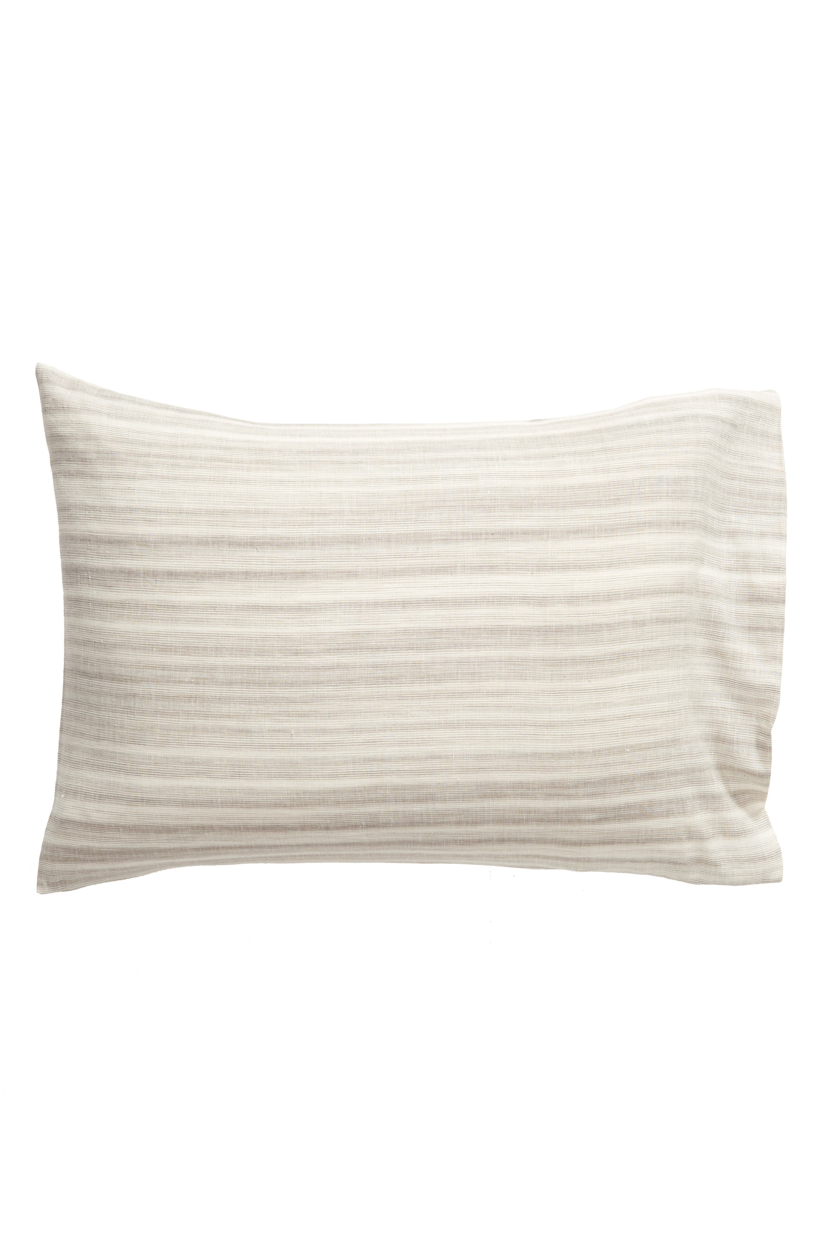 TREASURE & BOND Space Dyed Stripe Sham, Main, color, GREY OWL MULTI
