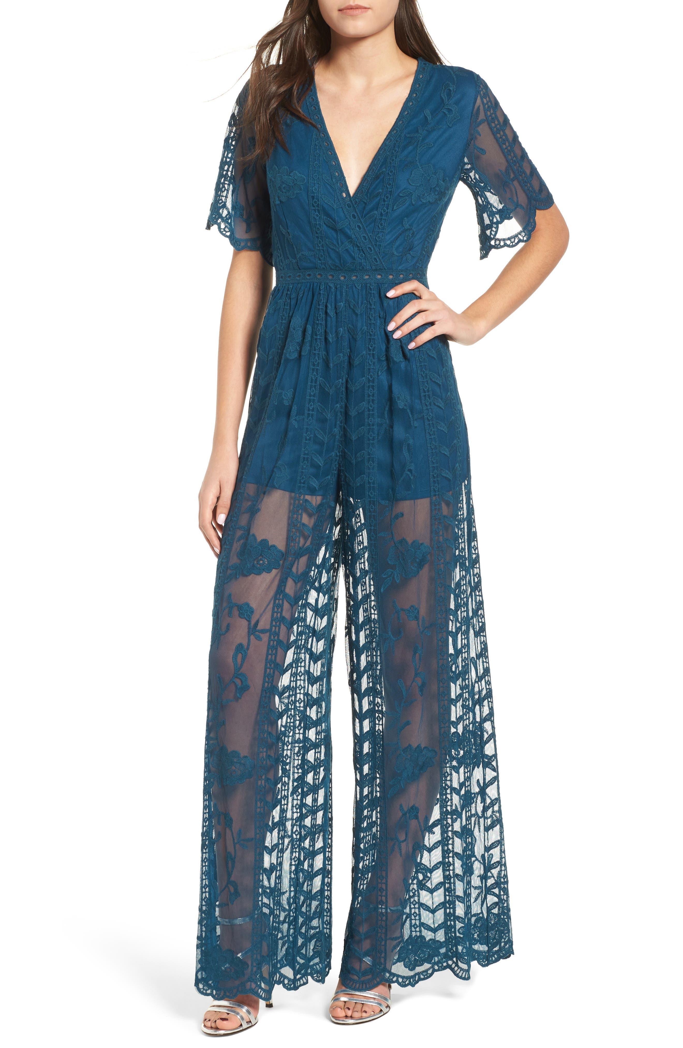 Lace Jumpsuit,                             Main thumbnail 1, color,                             423