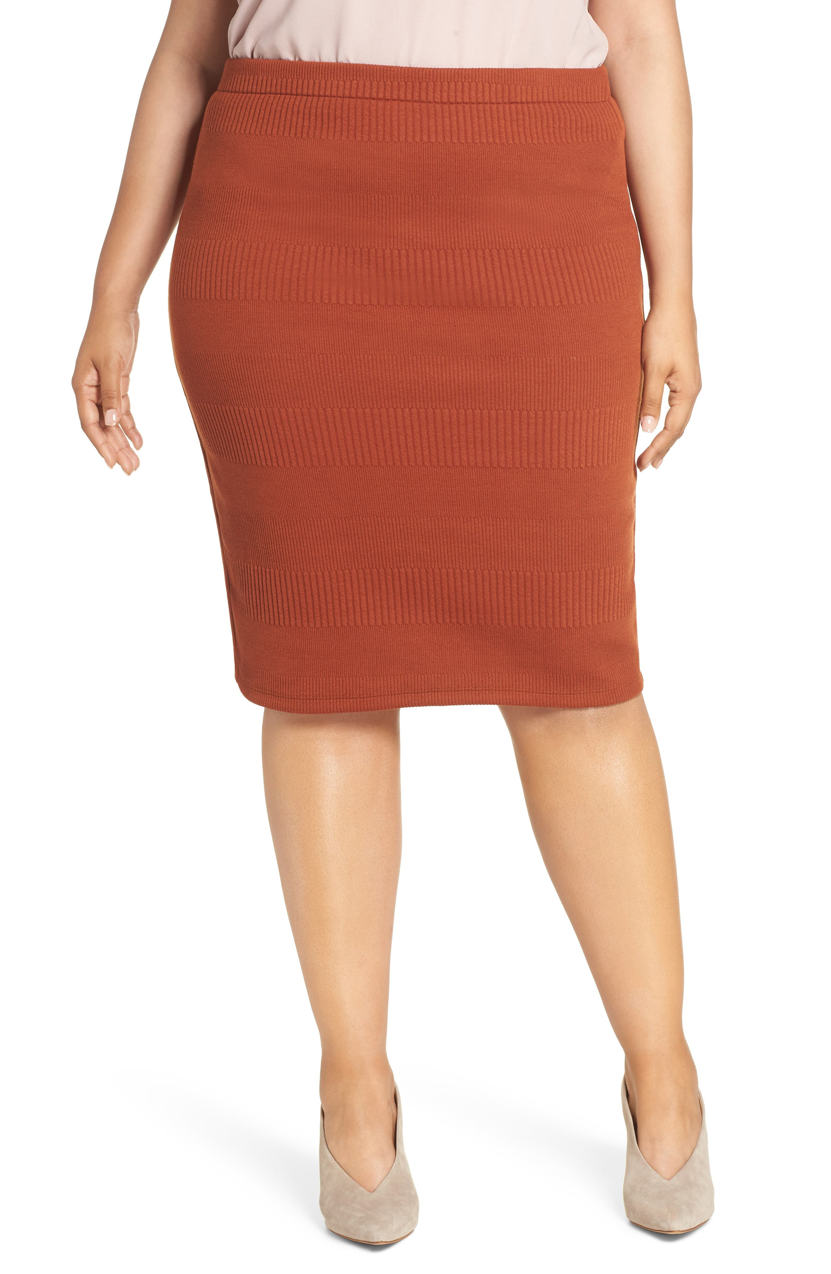 Midi Pencil Skirt,                         Main,                         color, 210