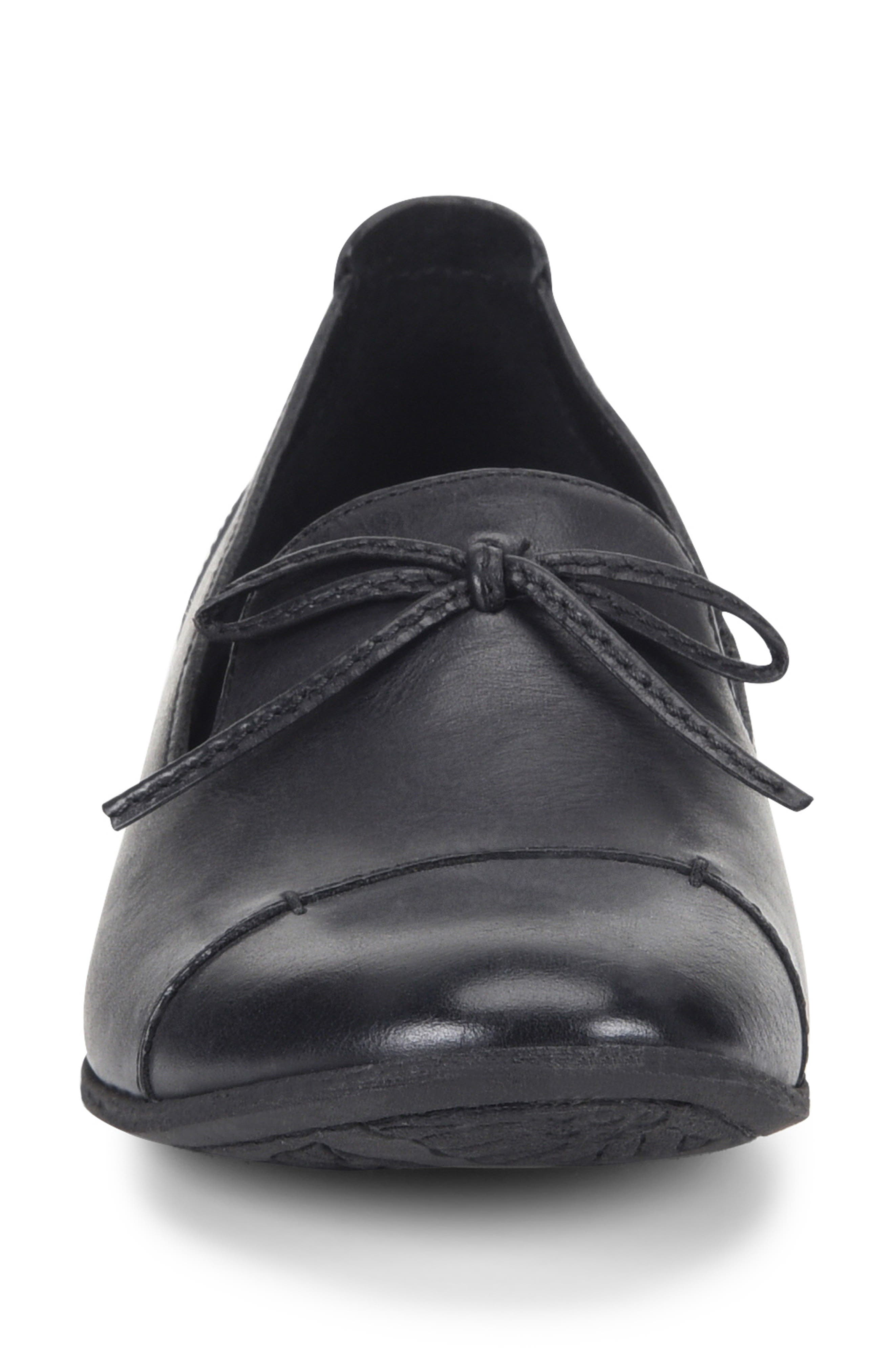 Gallatin Loafer,                             Alternate thumbnail 4, color,                             BLACK LEATHER