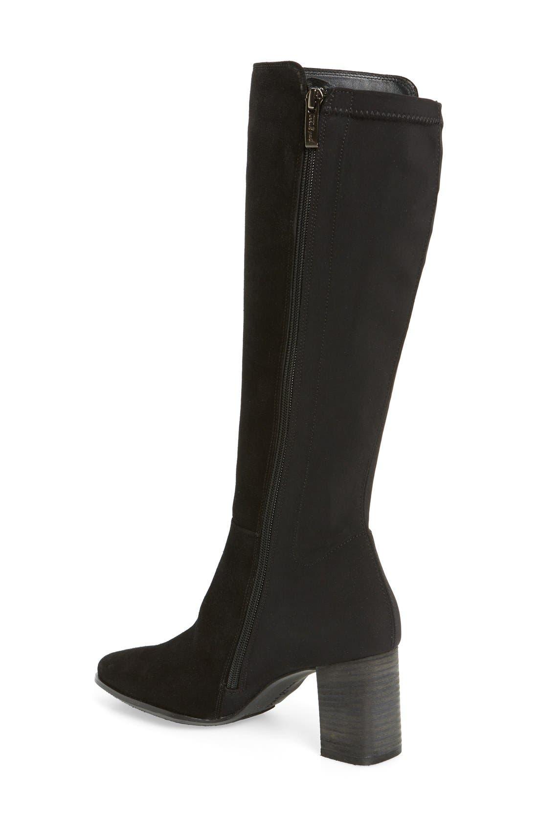 'Jackie' Water Resistant Boot,                             Alternate thumbnail 2, color,                             BLACK SUEDE