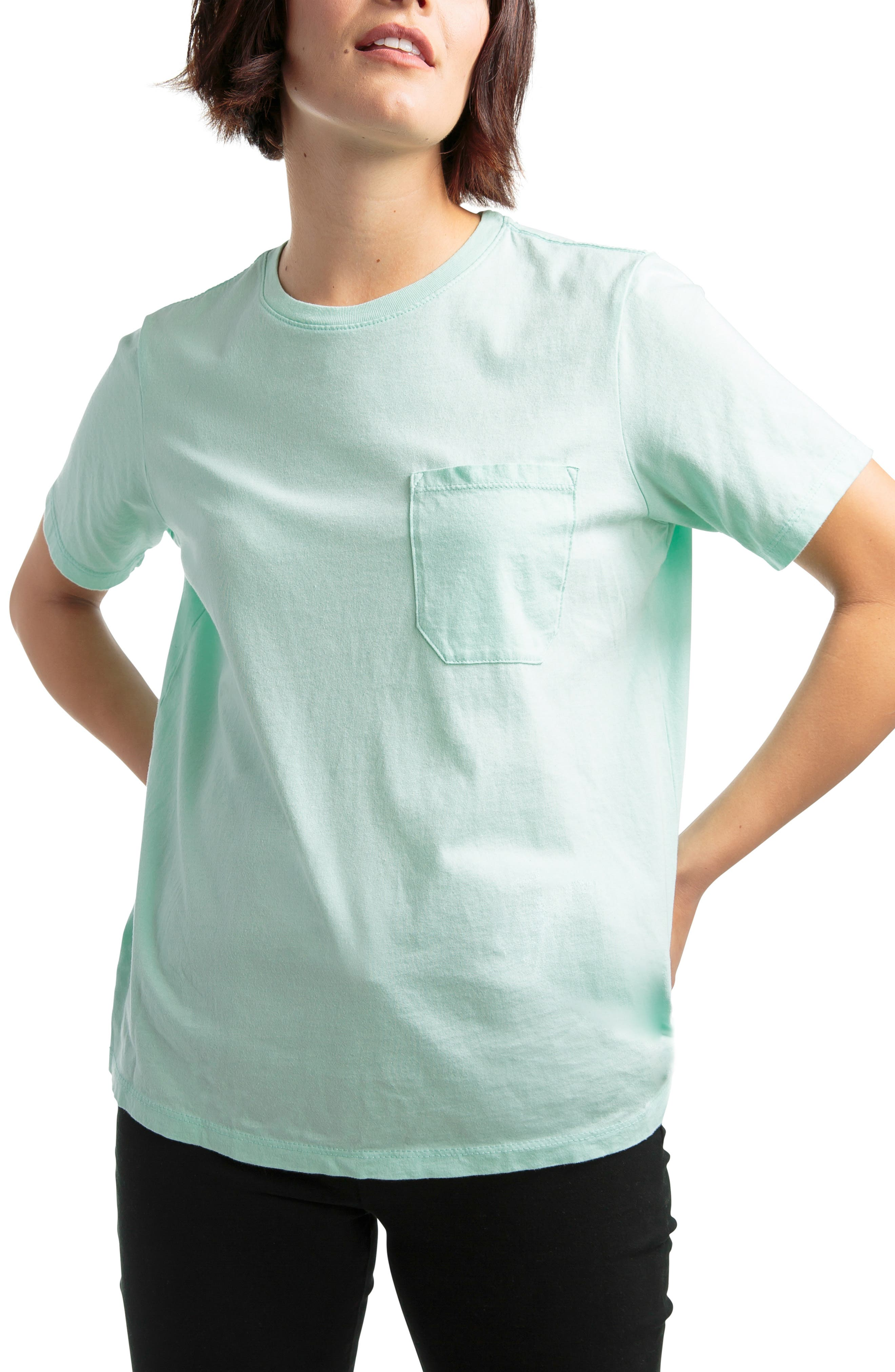 Pocket Tee,                             Main thumbnail 1, color,                             MINT