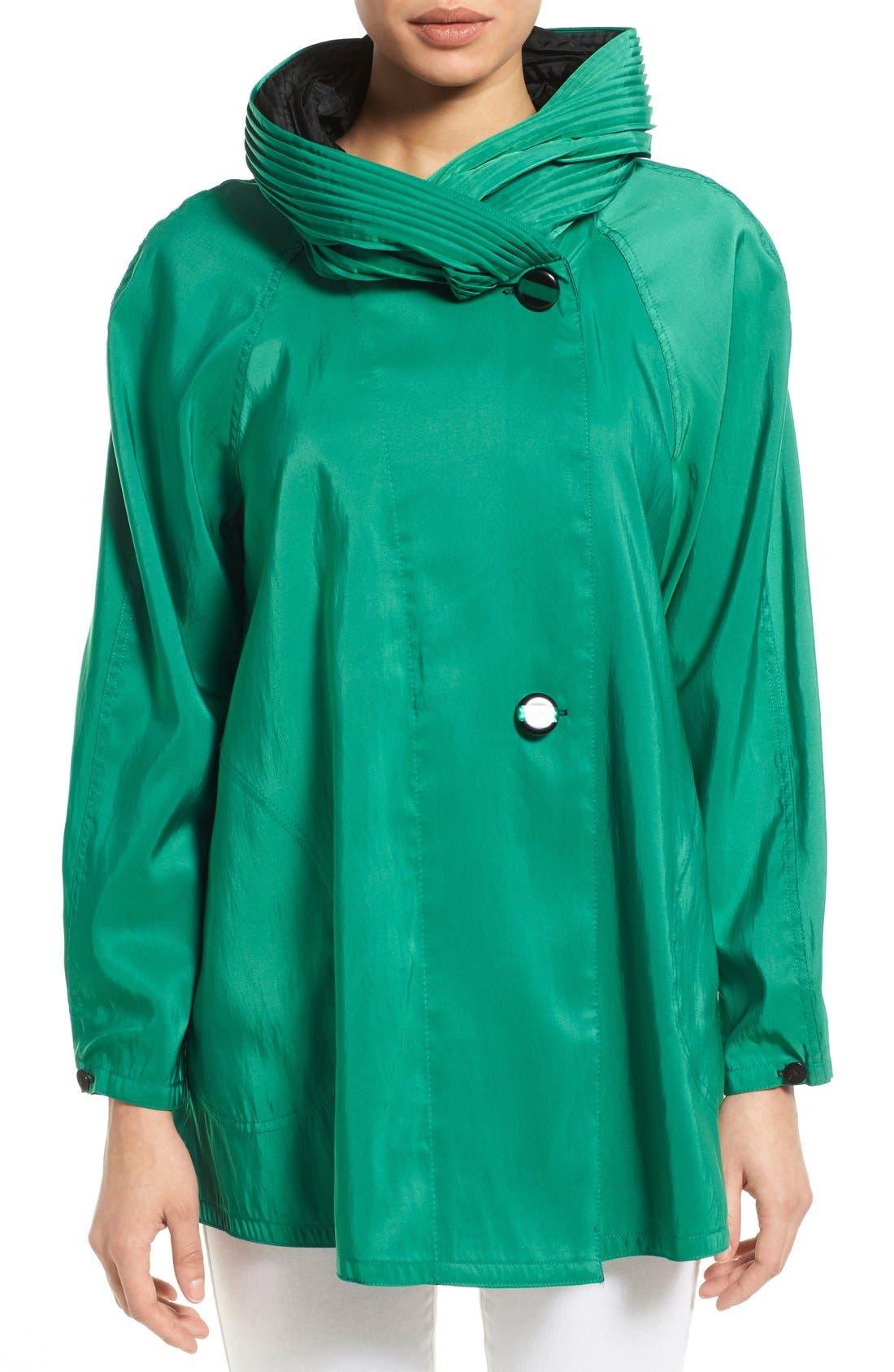 'Mini Donatella' Reversible Pleat Hood Packable Travel Coat,                             Main thumbnail 6, color,