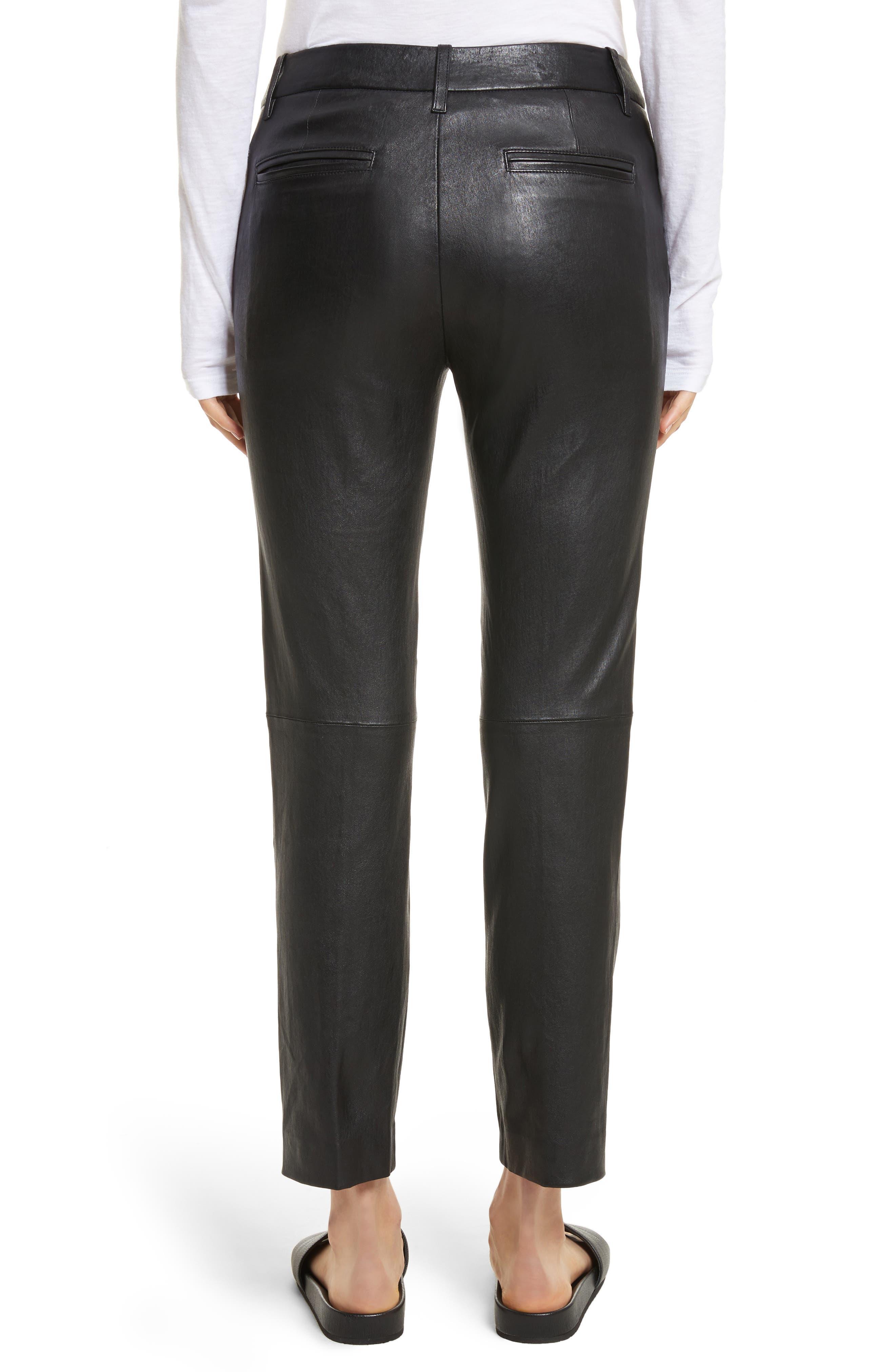 Leather Pants,                             Alternate thumbnail 2, color,
