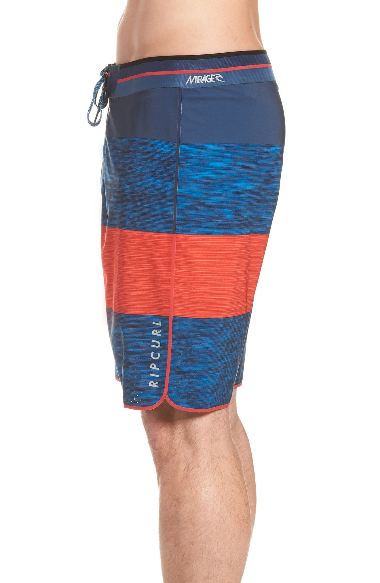Mirage Bends Ultimate Board Shorts,                             Alternate thumbnail 4, color,                             NAVY