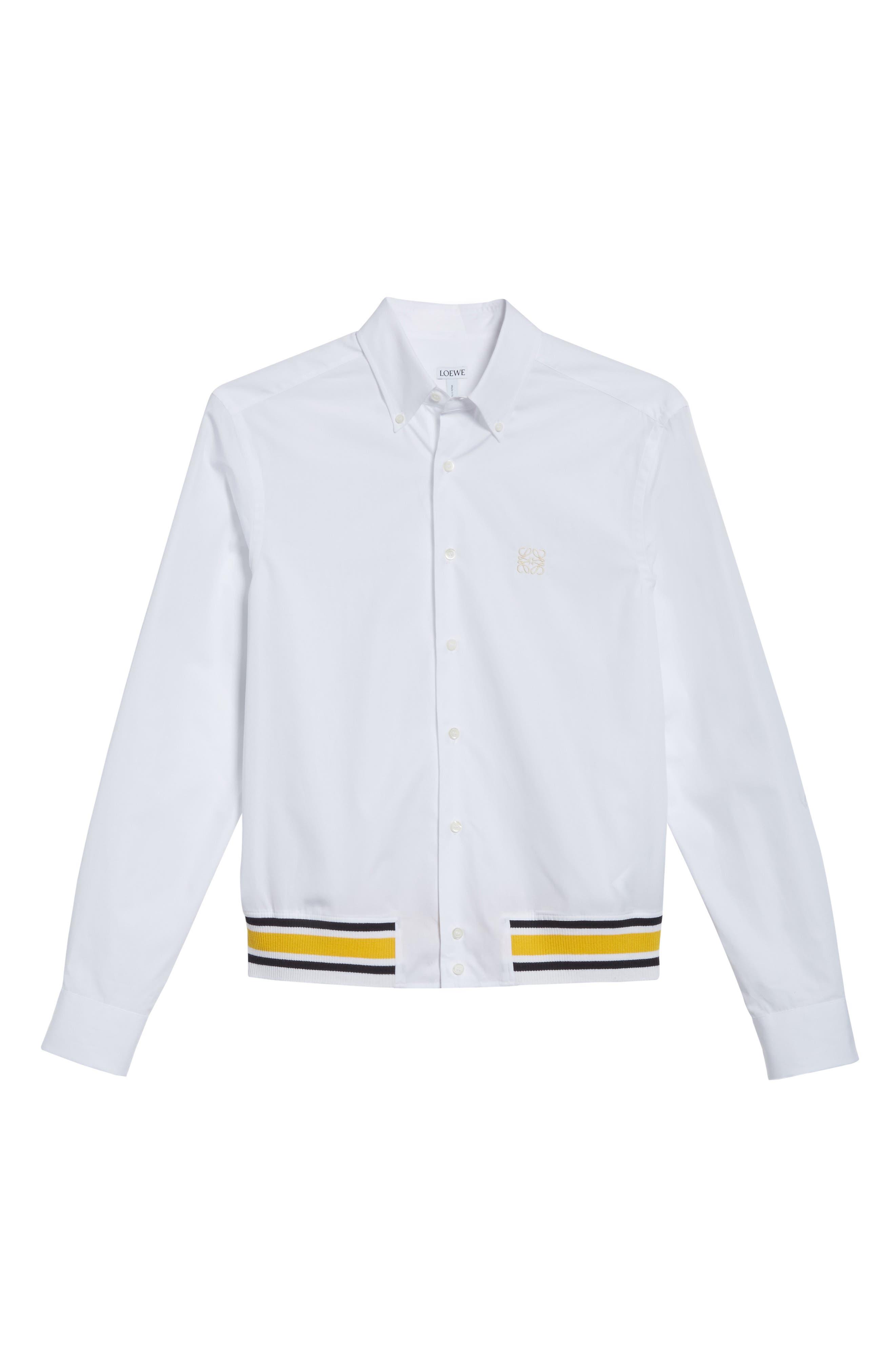 Blouson Hem Shirt,                             Alternate thumbnail 6, color,                             100