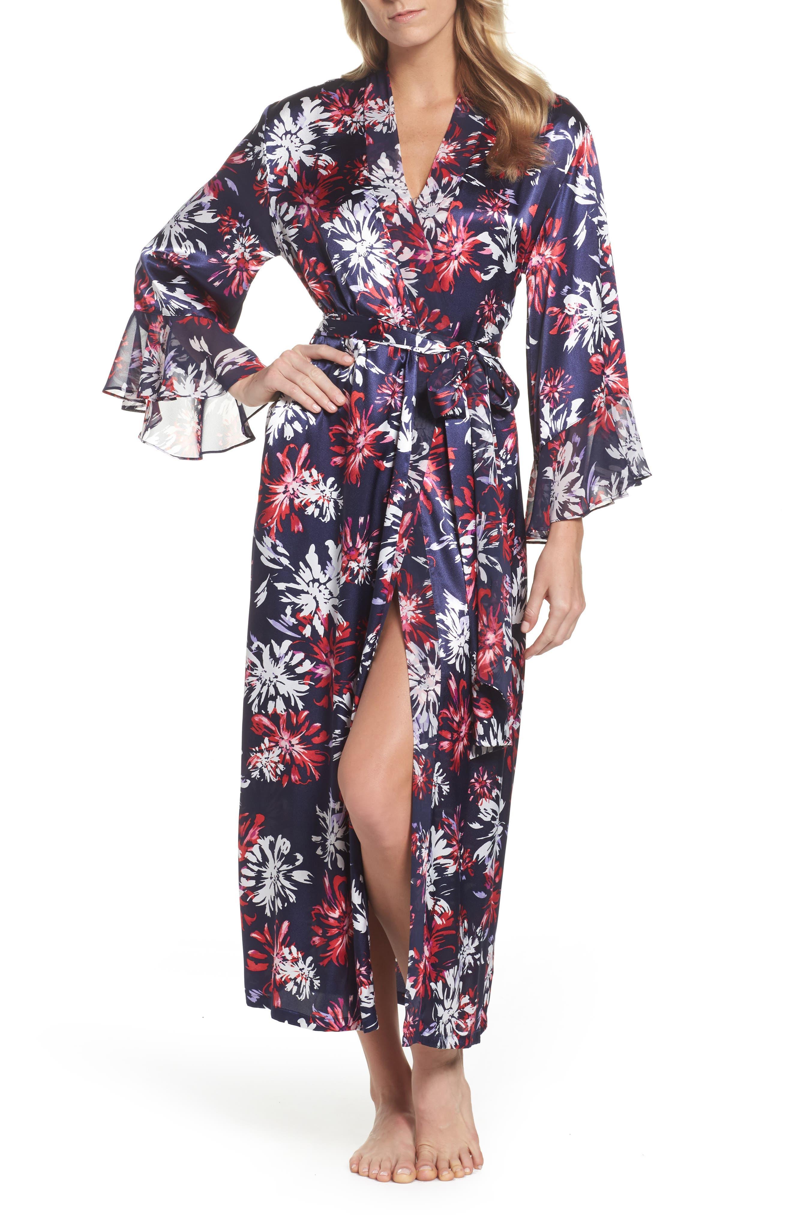 Sleepwear Satin Robe,                         Main,                         color,