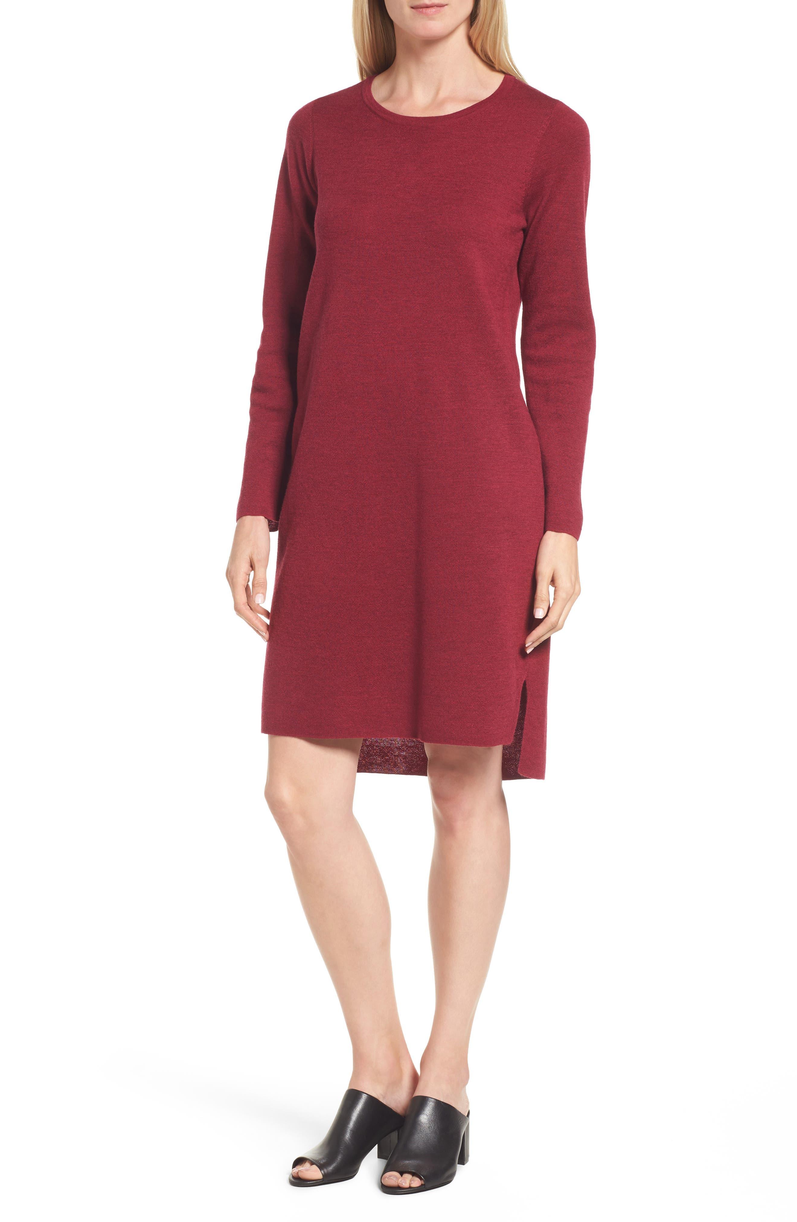 Merino Wool Sweater Dress,                             Main thumbnail 4, color,