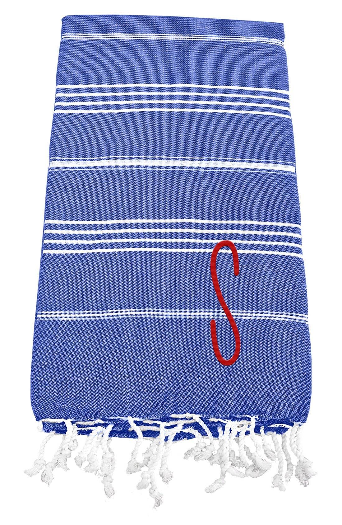 Monogram Turkish Cotton Towel,                             Main thumbnail 75, color,