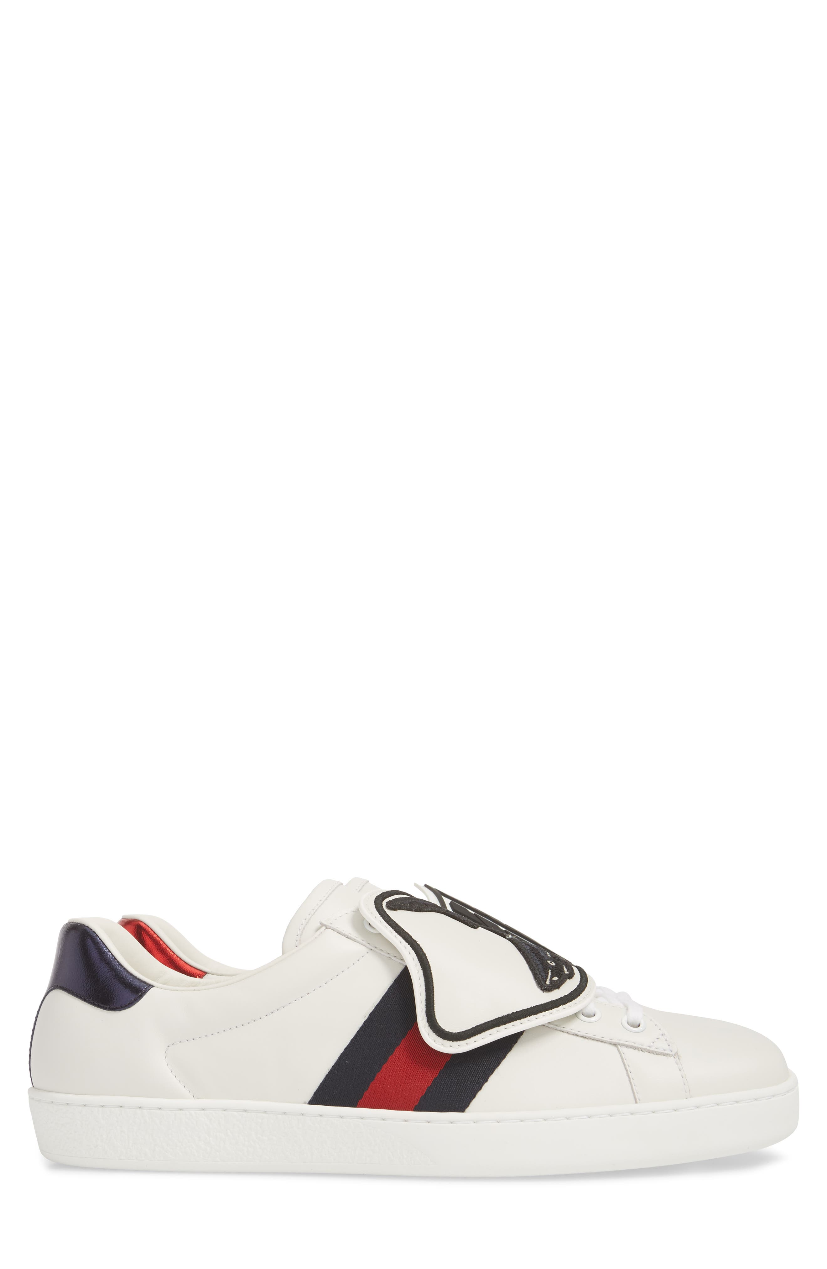 New Ace Patch Sneaker,                             Alternate thumbnail 4, color,                             BIANCO/ WHITE